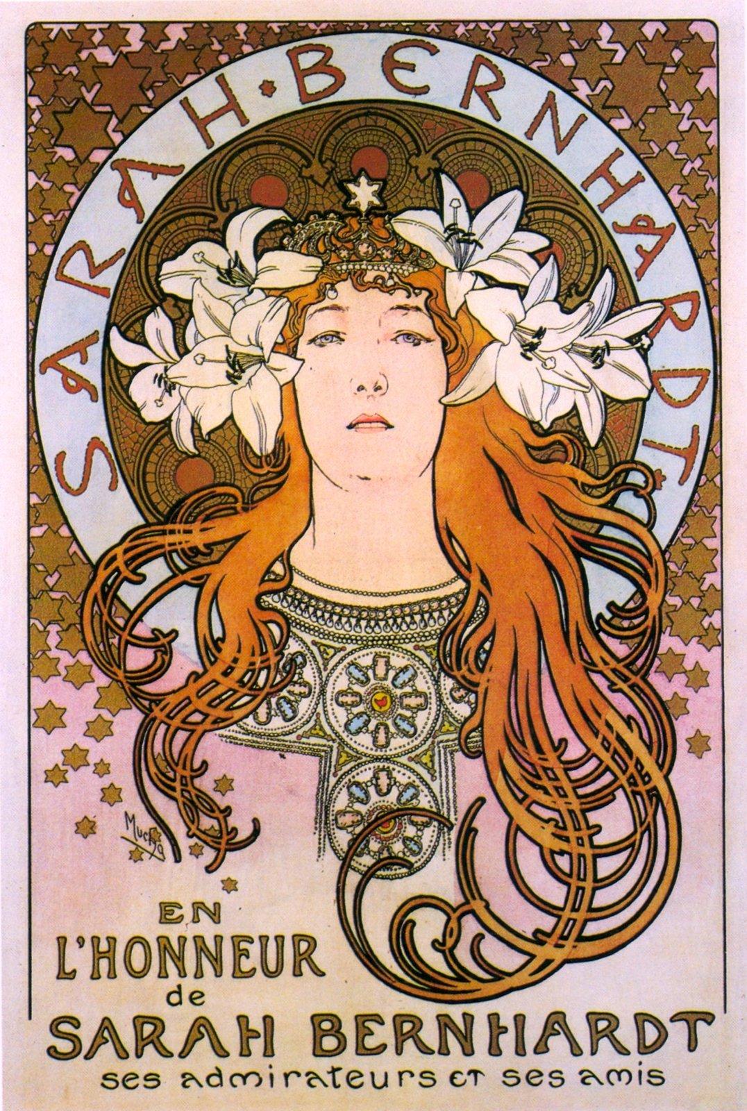 Рекламный плакат для Сары Бернар-1896
