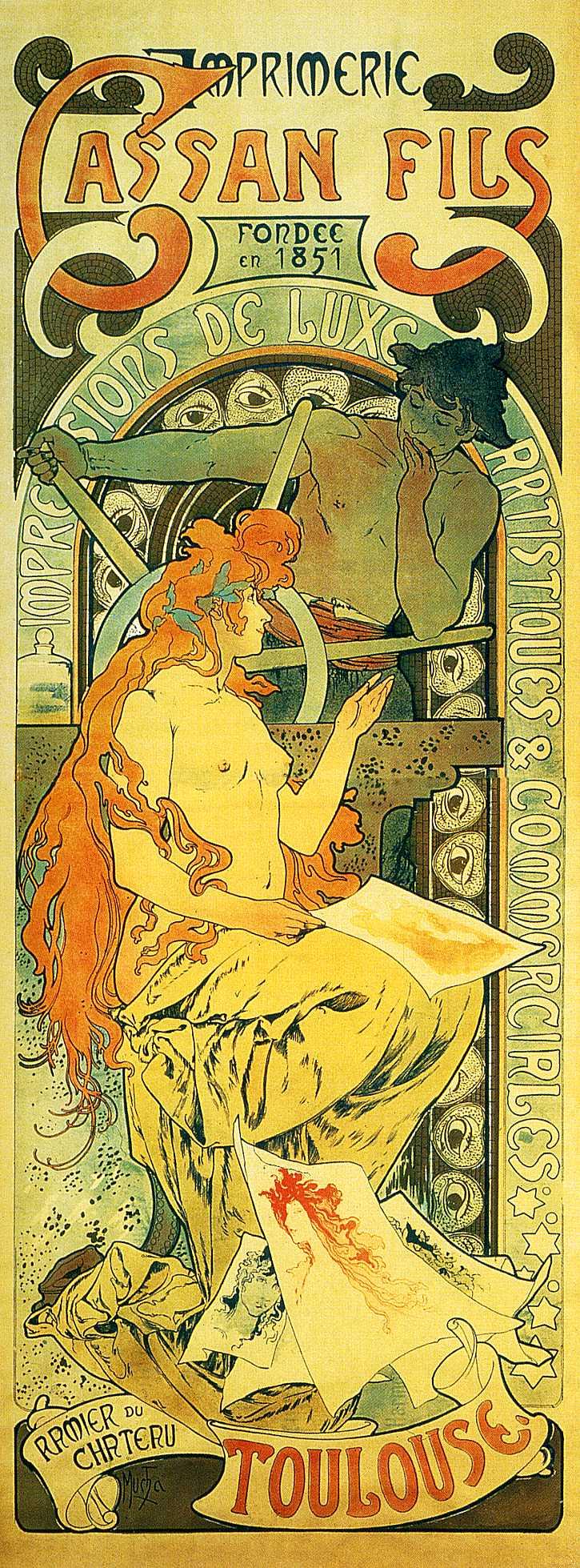 Рекламный плакат издательства Cassan Fils, Тулуза-1895