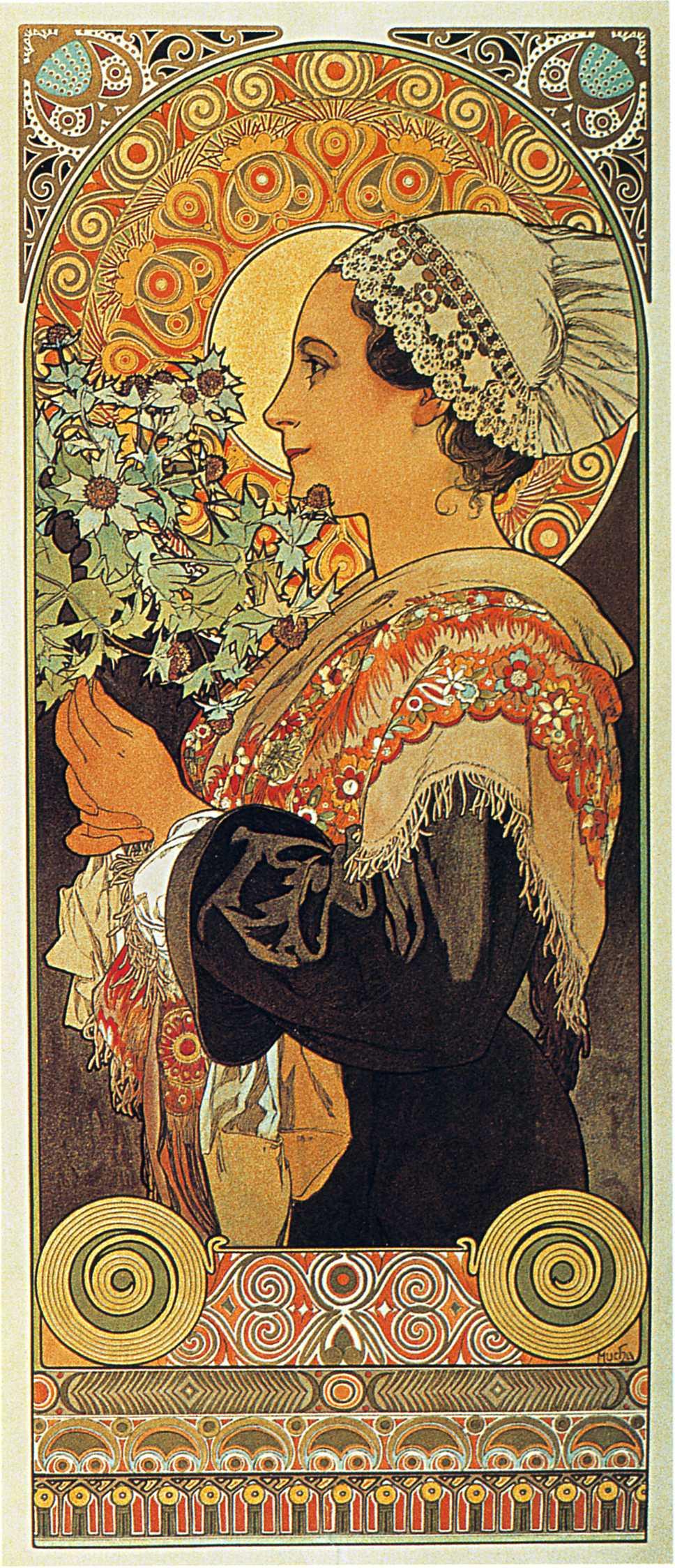 Степные травы. Чертополох из пустыни-1902
