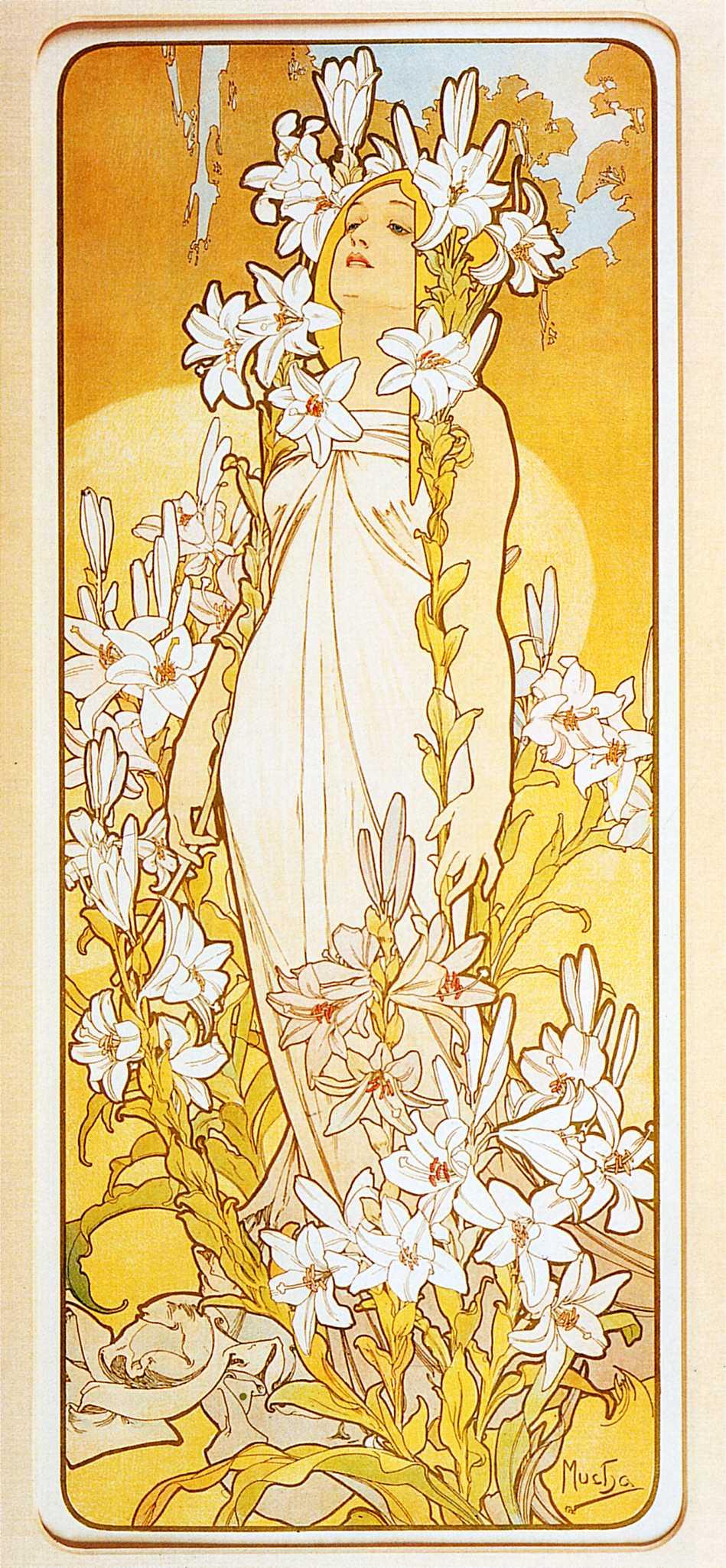 Цветы--Лилия-1898