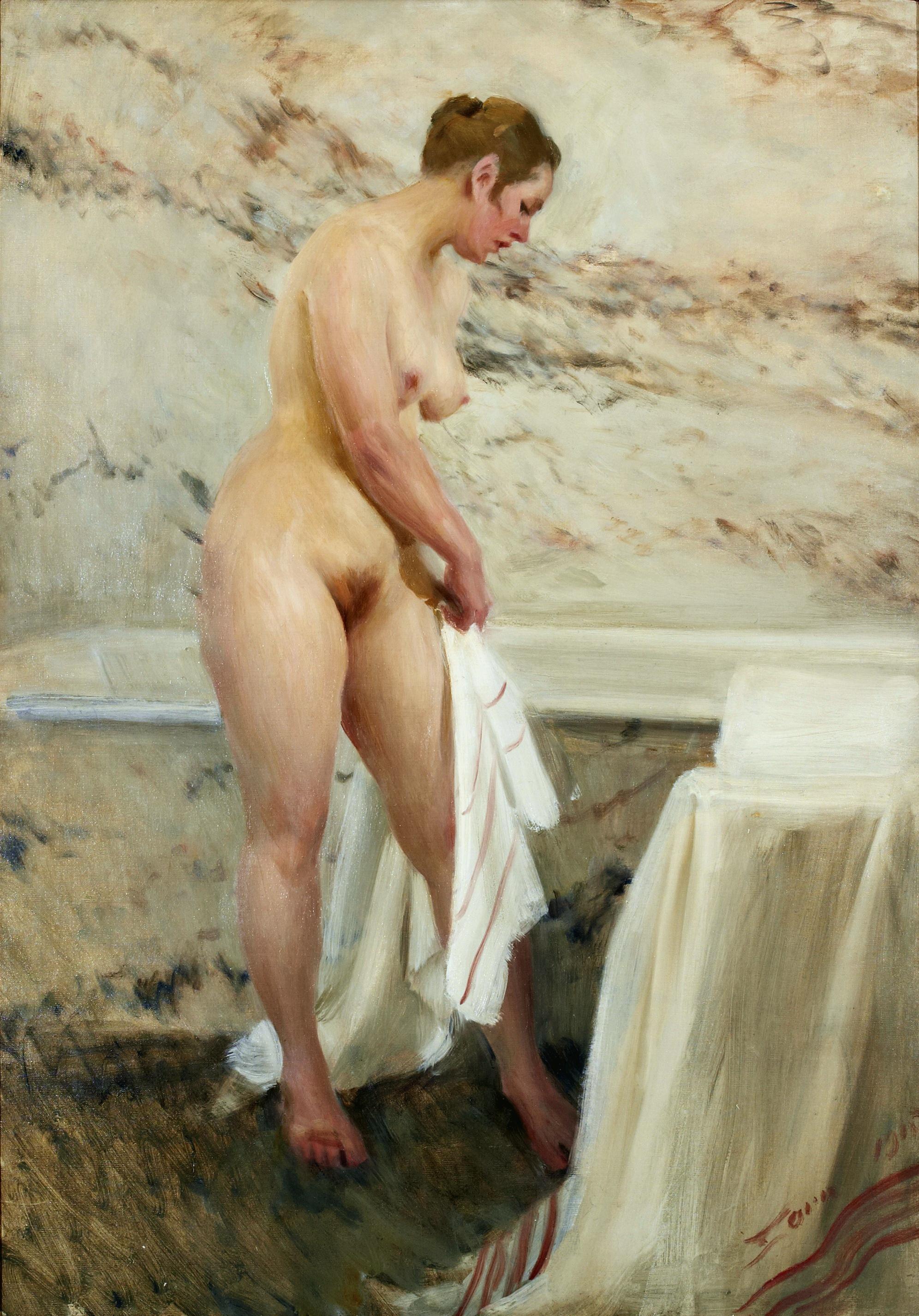 Anders Leonard Zorn. 1860-1920. В ванной комнате. 1915, 116 х 81 см. Частная коллекция