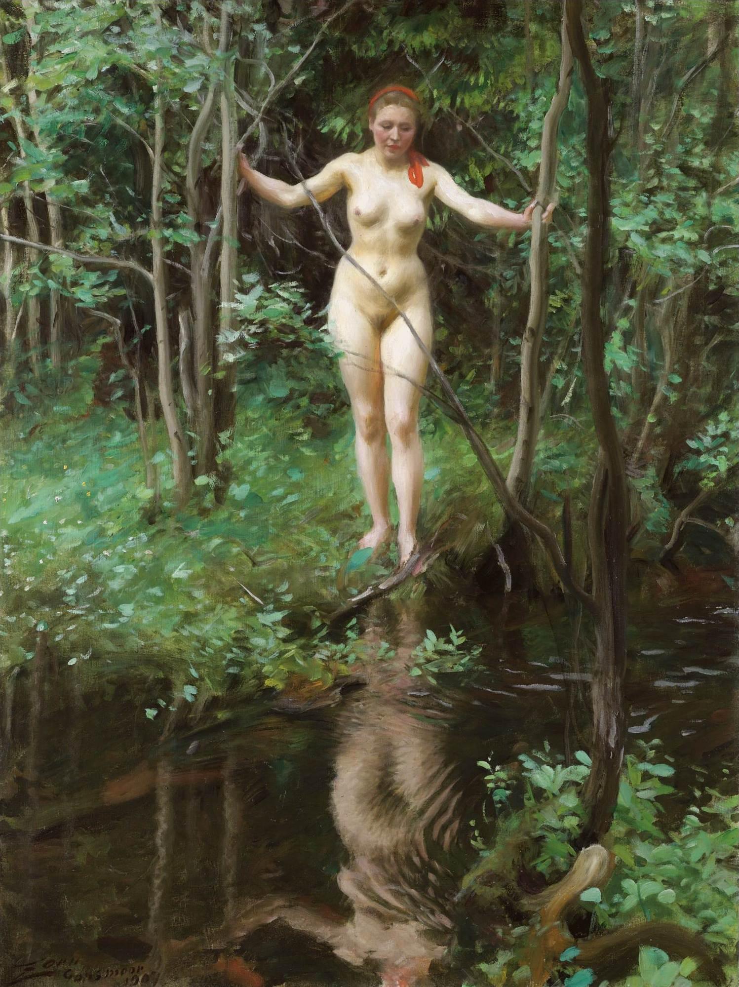 Anders Leonard Zorn. 1860-1920. Ингеборга. 1907, 120 х 91 см. Частная коллекция