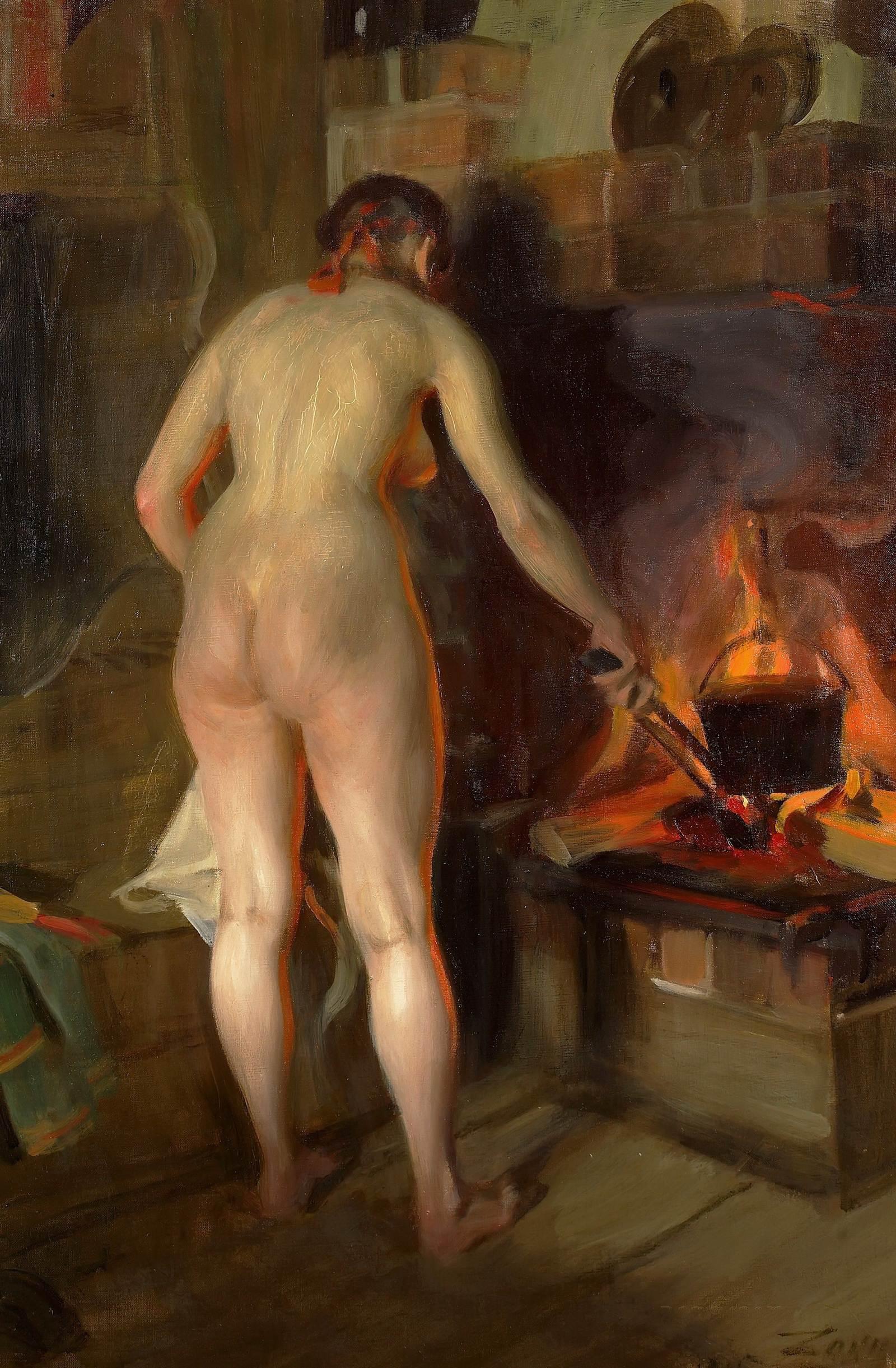 Anders Leonard Zorn. 1860-1920. Котелок с картошкой. 1915, 93 х 62 см. Частная коллекция