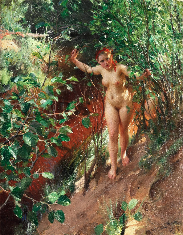 Anders Leonard Zorn. 1860-1920. Красный песок. 1903, 118 х 94 см. Частная коллекция