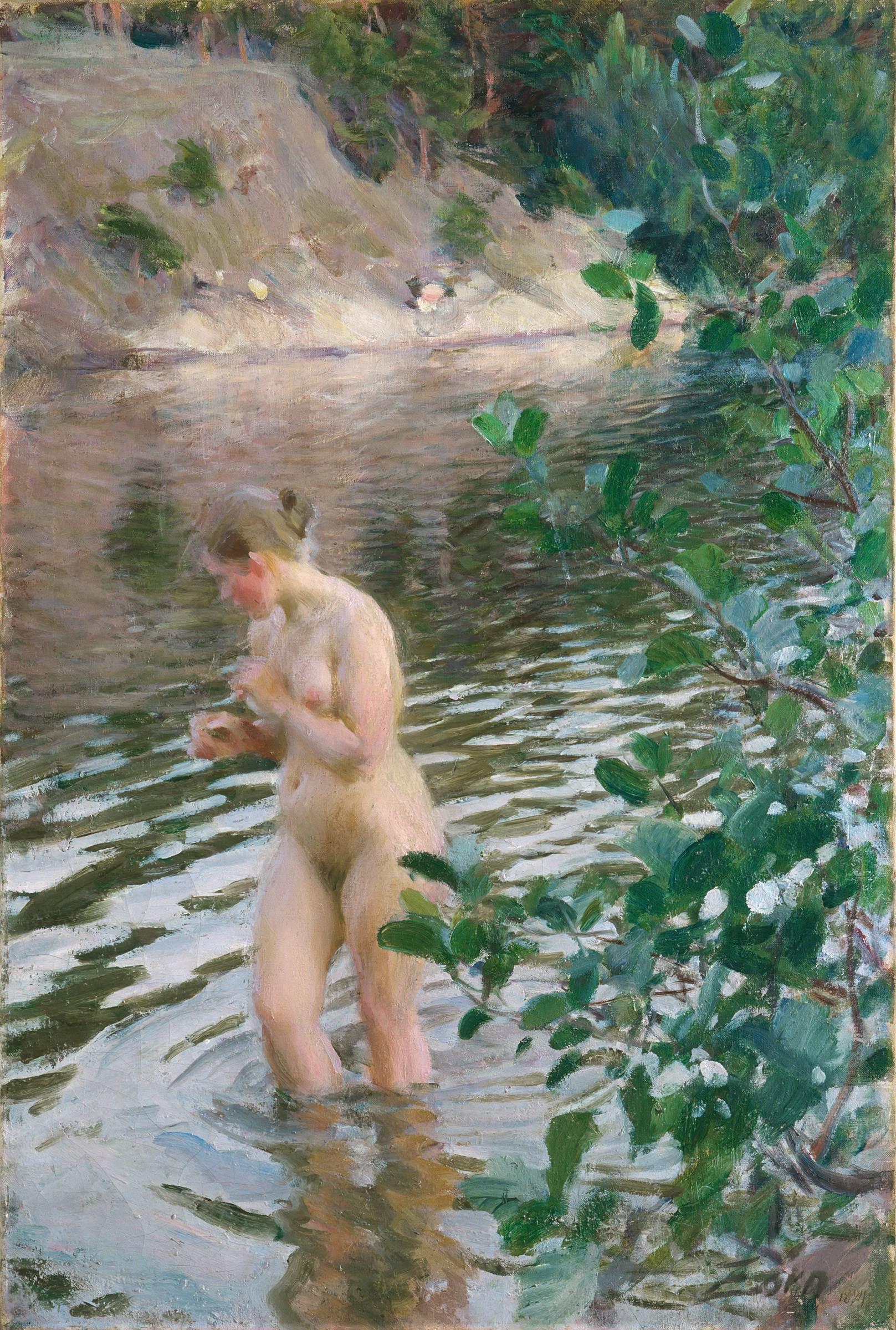 Anders Leonard Zorn. 1860-1920. Купальщица. 1894. Стокгольм, Дворец Вальдемарсудде
