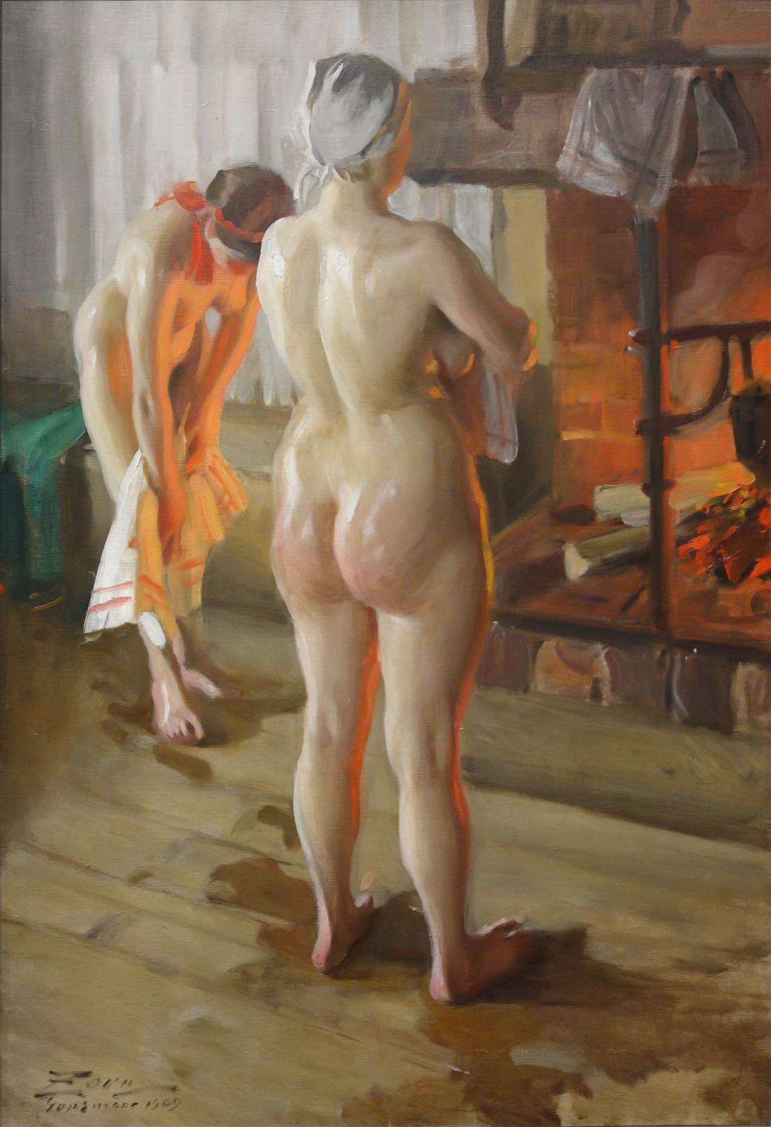 Anders Leonard Zorn. 1860-1920. Мать и дочь. 1909, 90 х 62 см. Мура, Музей Цорна