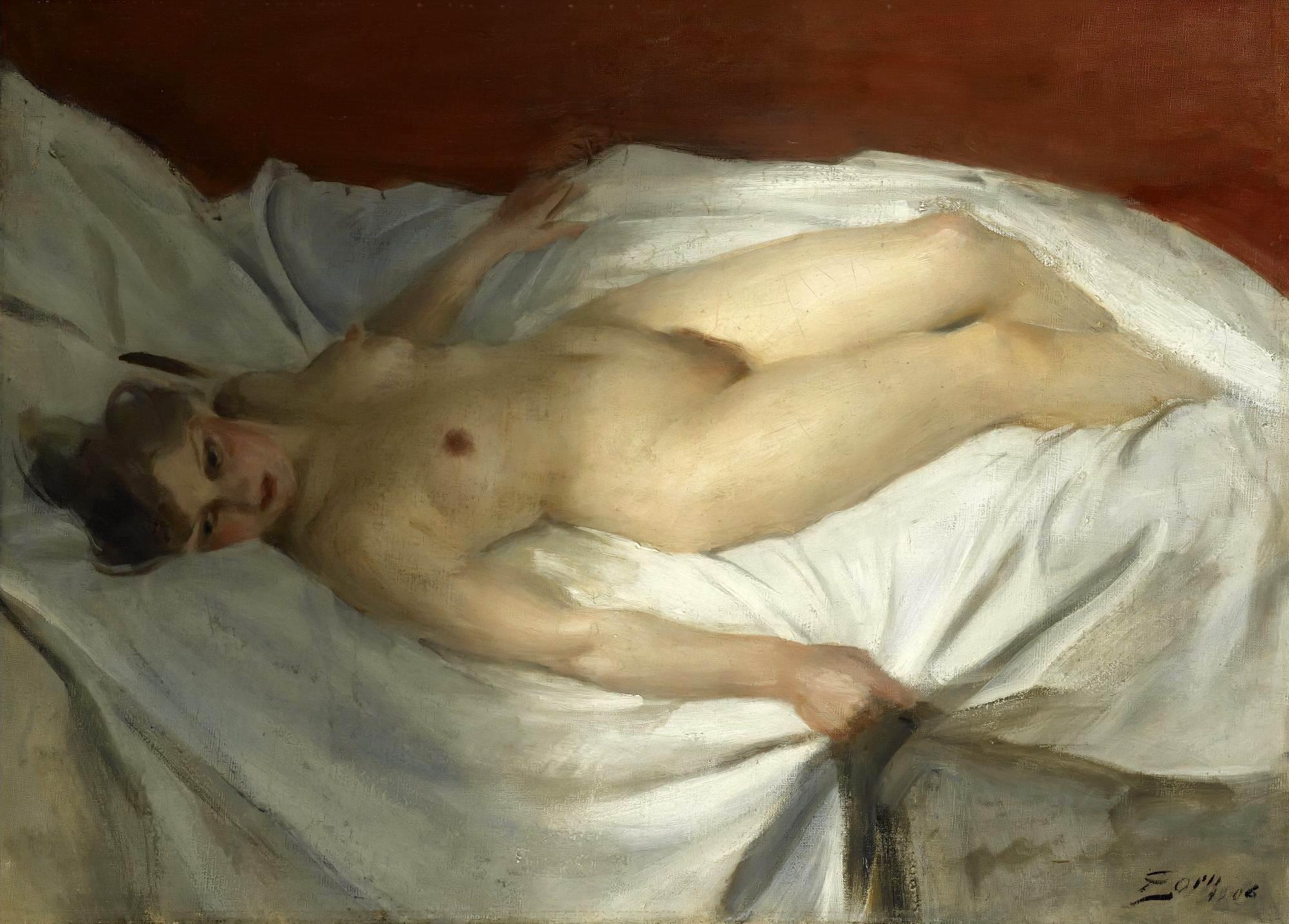 Anders Leonard Zorn. 1860-1920. Пробуждение. 1906, 54 х 73 см. Частная коллекция