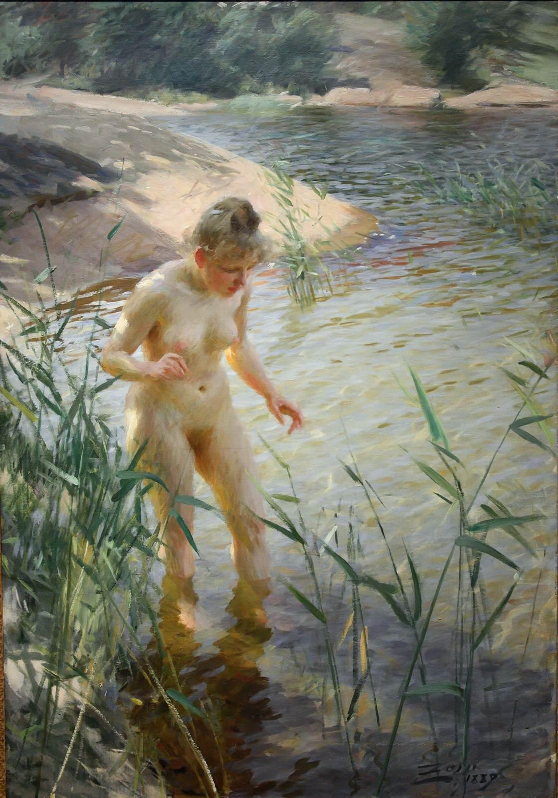 Anders Leonard Zorn. 1860-1920. Рефлекс. 1889, 120 x 84 см. Мура, Музей Цорна