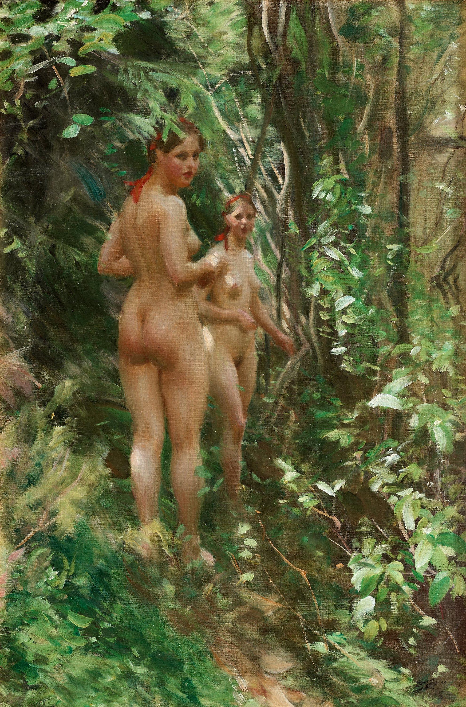 Anders Leonard Zorn. 1860-1920. Хидс. 1908. 91 х 61 см. Частная коллекция