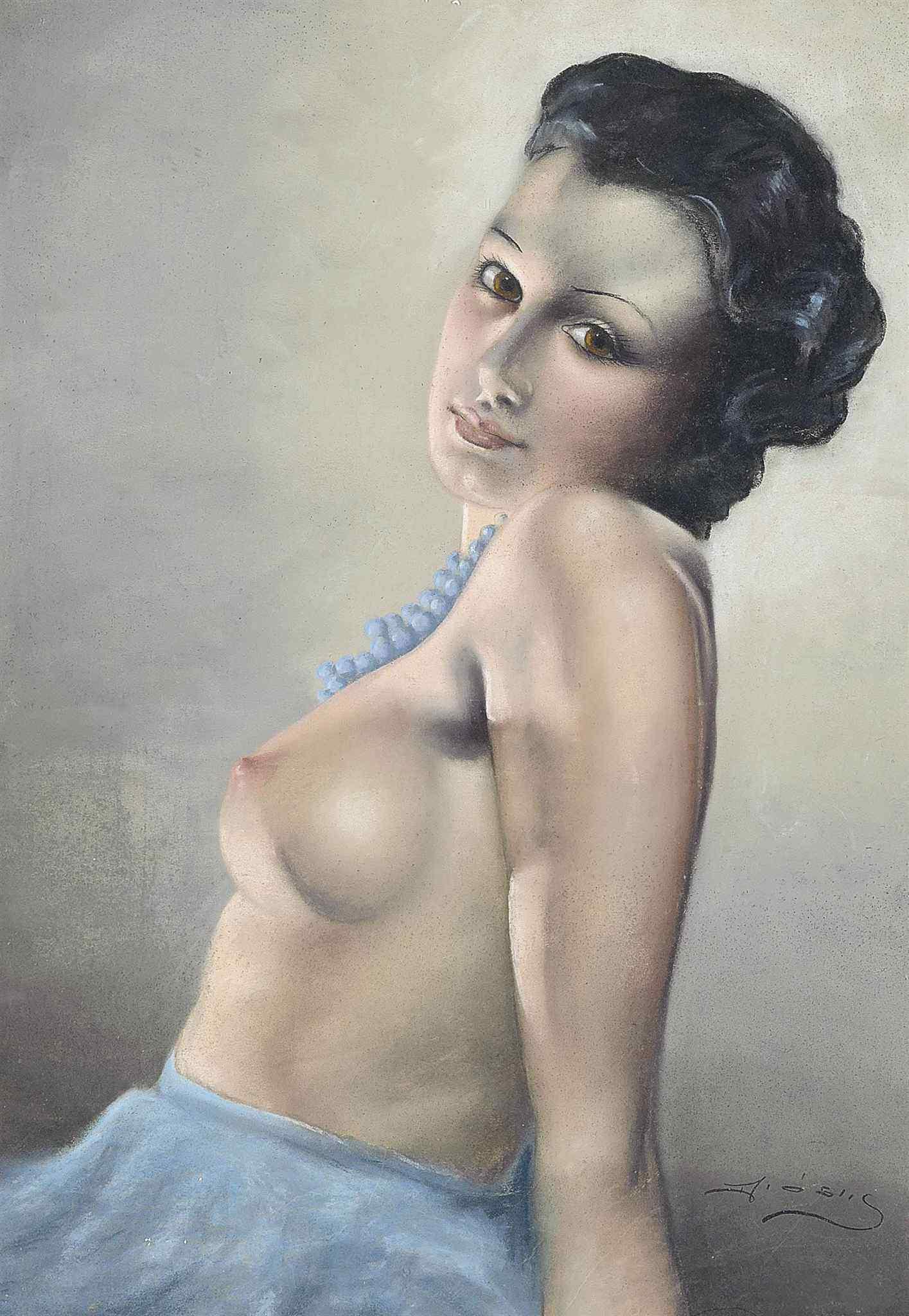 Antal Diosy, 1895-1977. Юная красавица. 68.6 x 49 см. Частная коллекция