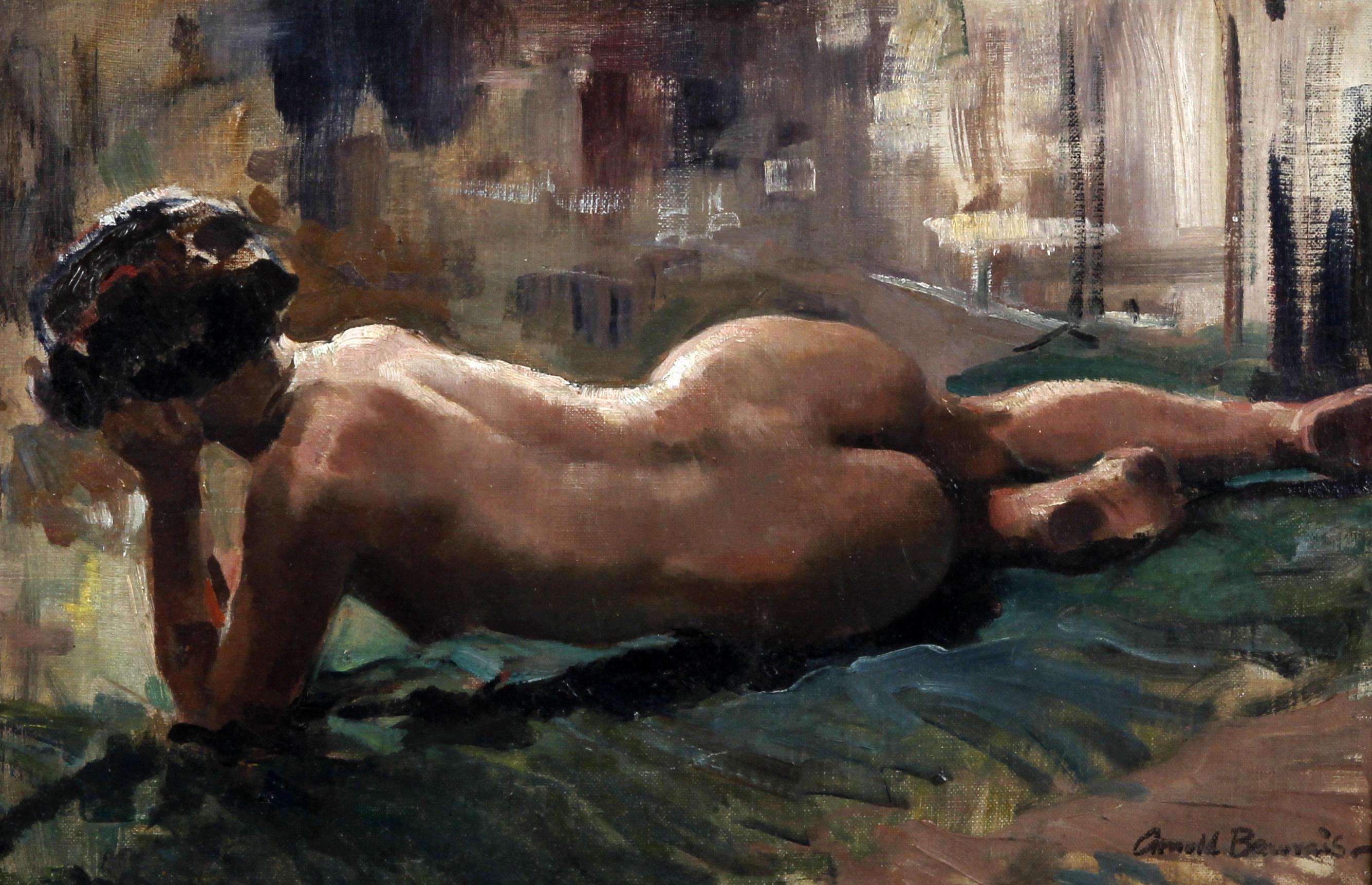 Arnold Beauvais, род в 1886. Лежащая обнаженная. 30 х 36 см. Частная коллекция