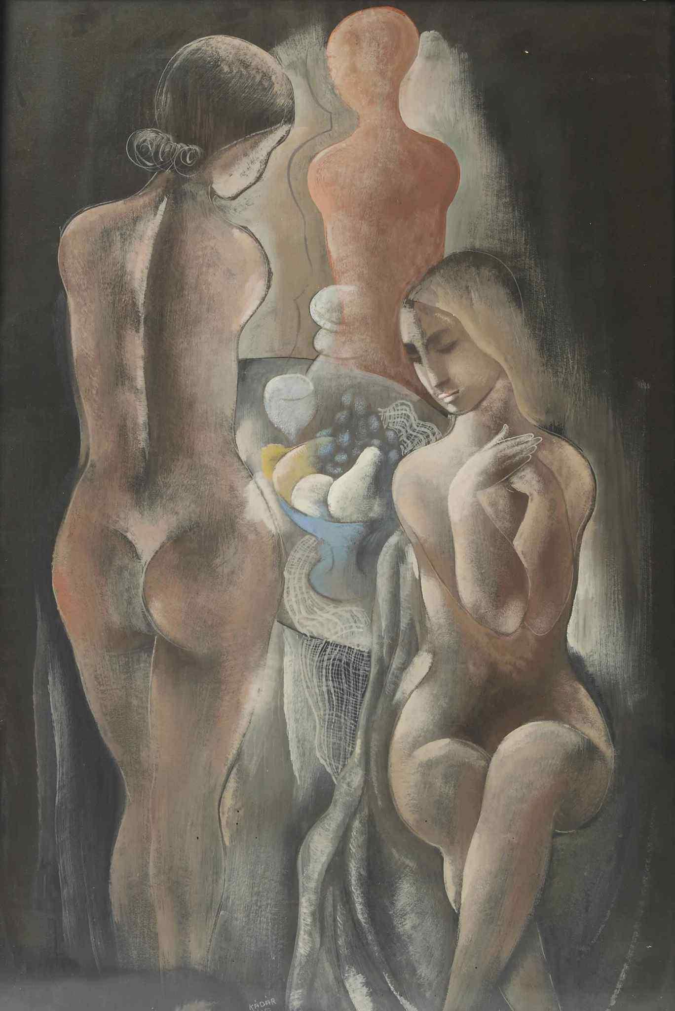 Bela Kadar, 1877-1956. Обнаженные. 99 x 67 см. Частная коллекция