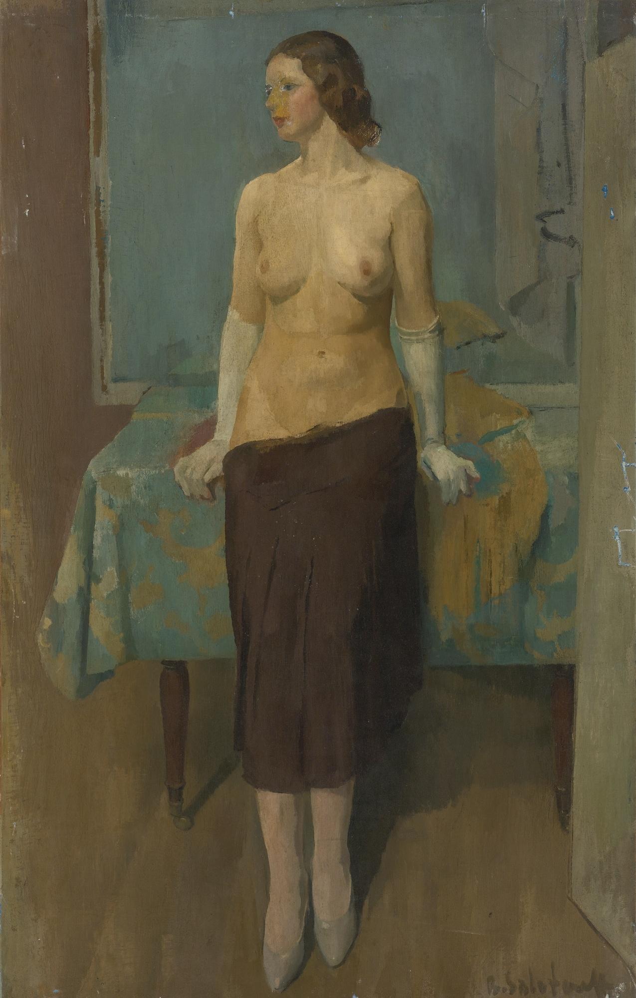 Boris Solotareff, 1889-1966. Обнаженная. 102.5 х 64.5 см. Частная коллекция
