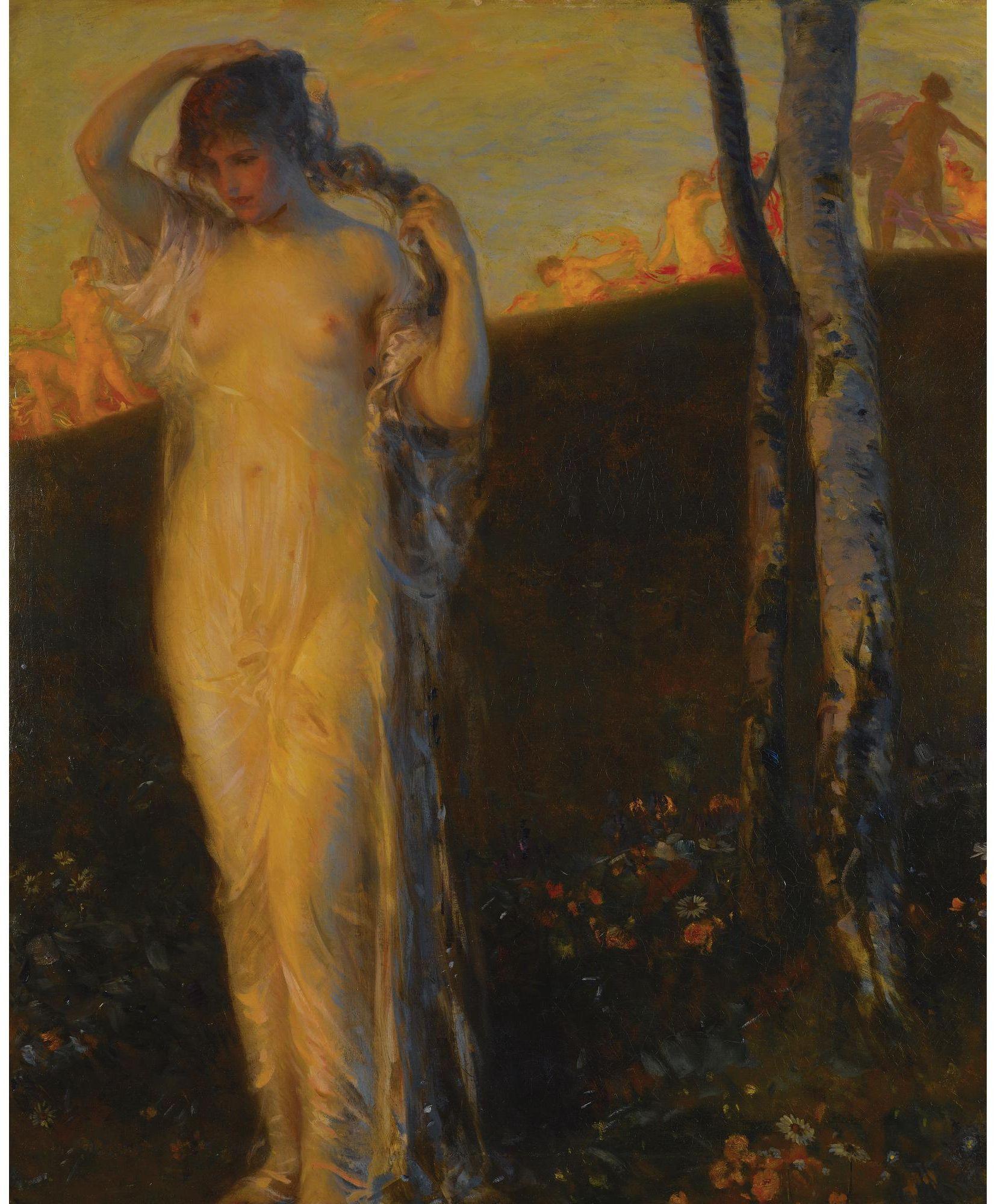 Carl von Marr, 1858-1936. Бичевание. 107.3 х 88.2 см. Частная коллекция