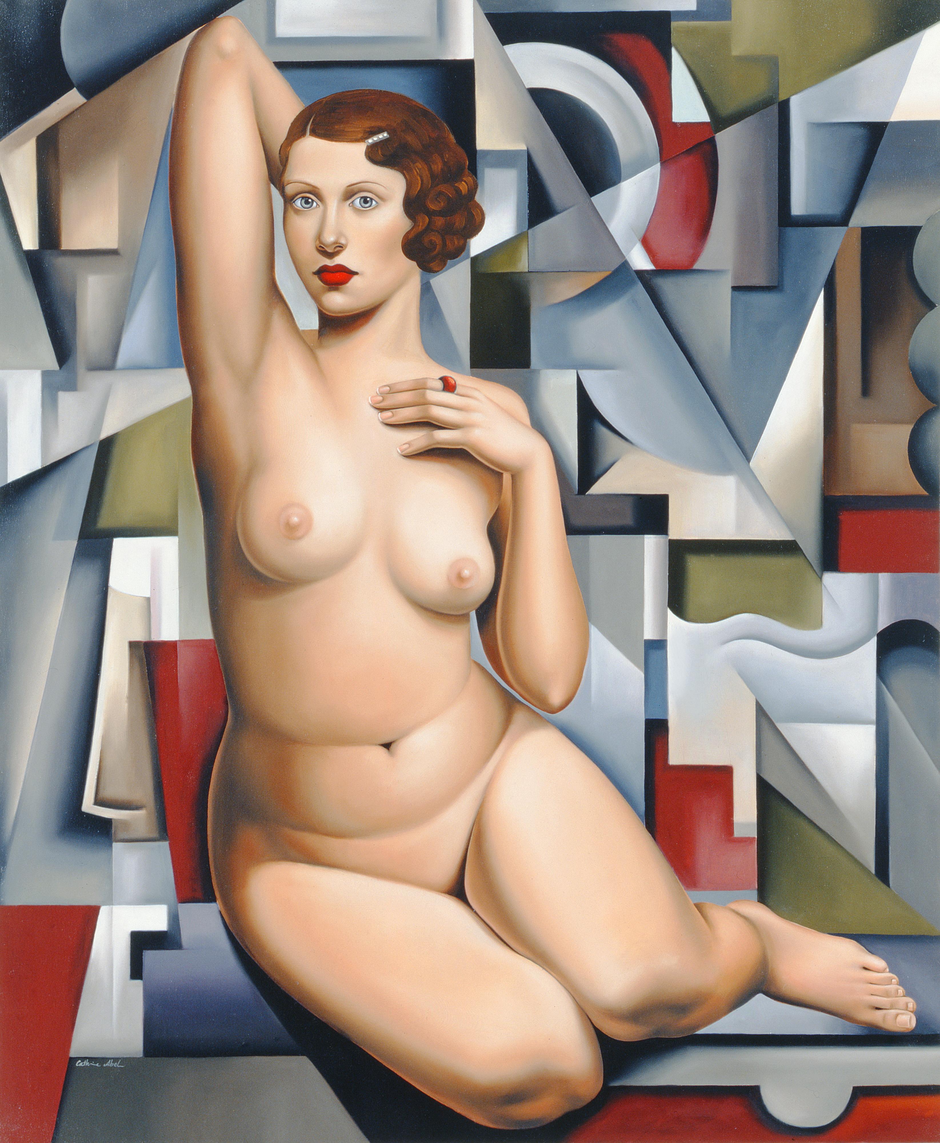 Catherine Abel, род в 1966. Сидящая кубическая обнаженная. Частная коллекция