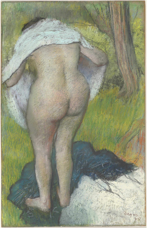 Edgar Degas, 1834-1917. Вытирающаяся девушка. 1885. 80.1 х 51.2 см. Вашингтон, Национальная галерея