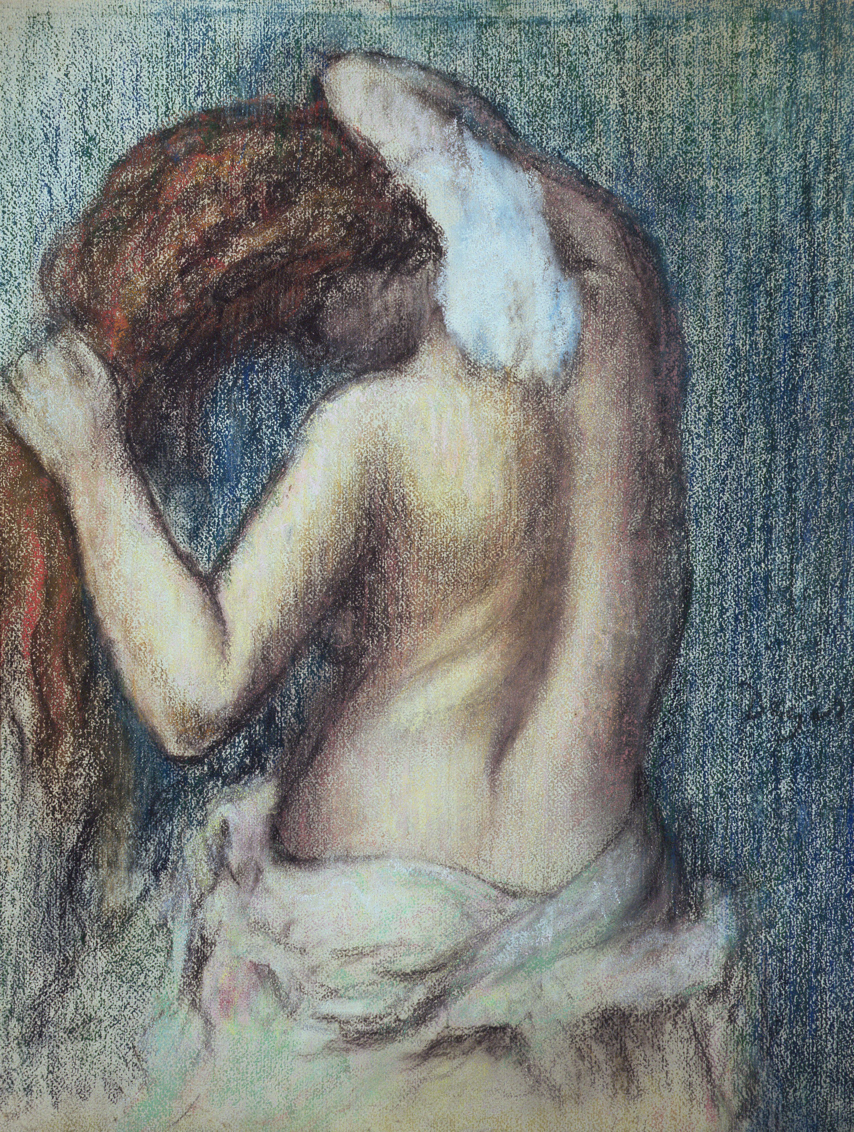 Edgar Degas, 1834-1917. Женщина за туалетом. ок.1895. пастель. Частная коллекция