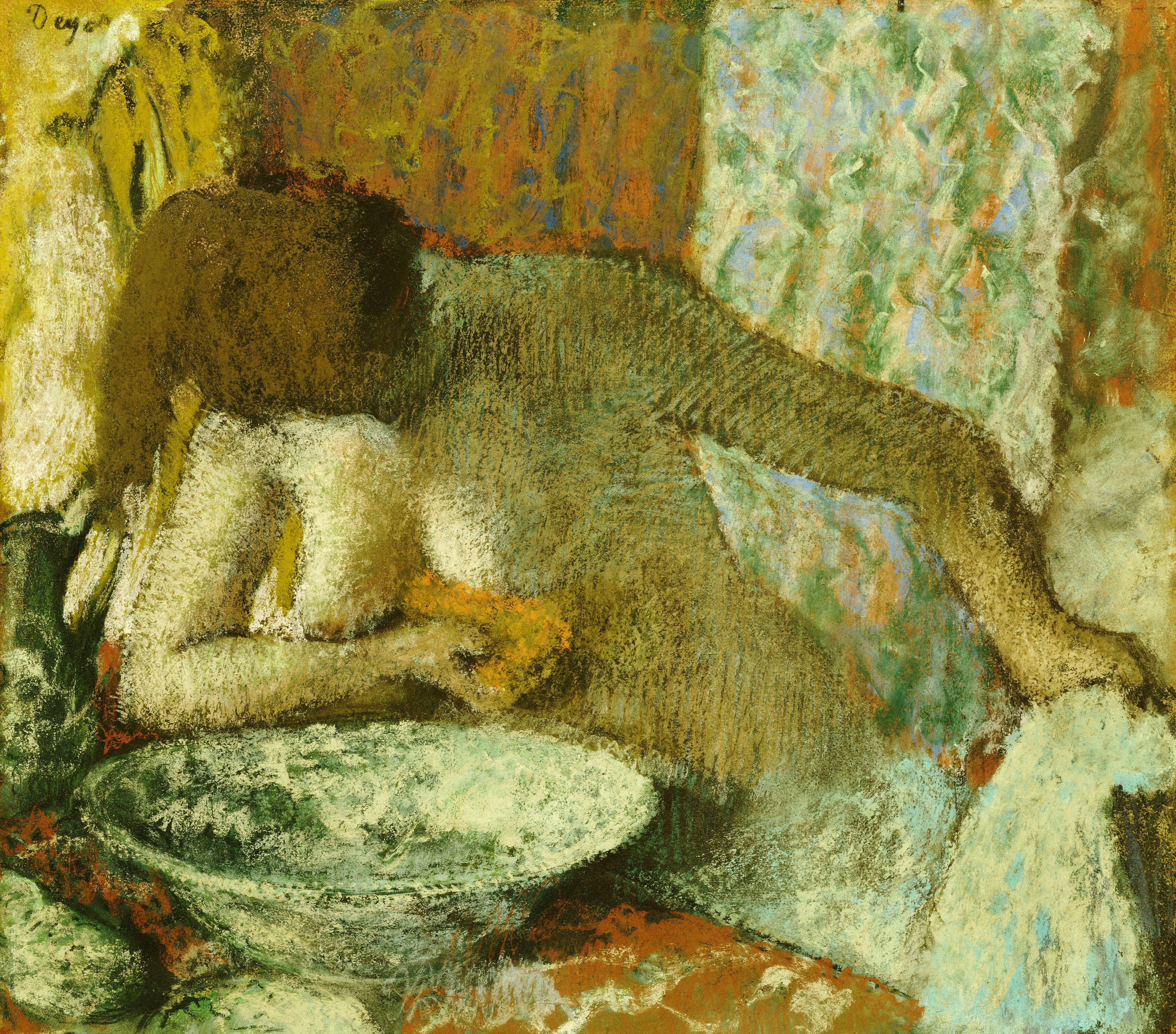 Edgar Degas, 1834-1917. Женщина за туалетом. ок.1897