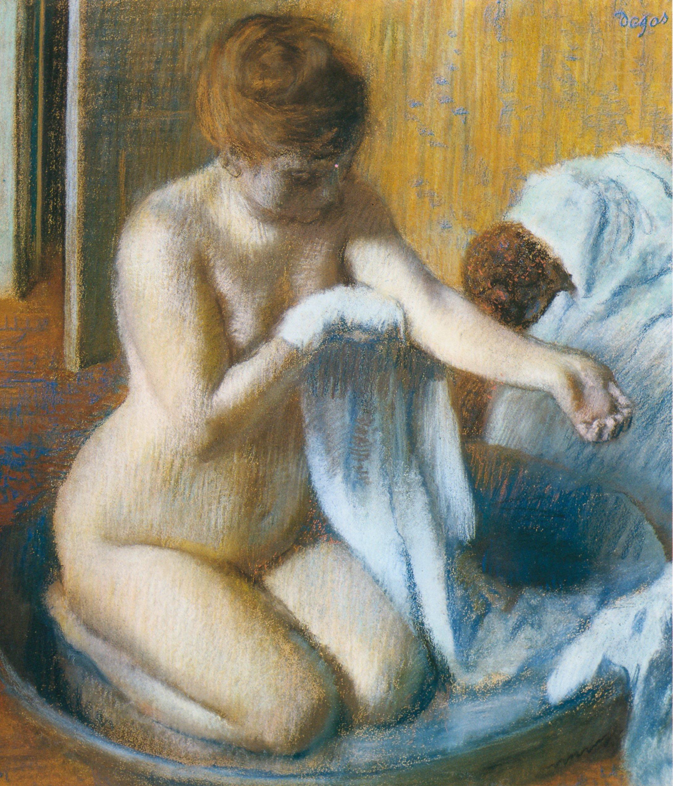 Edgar Degas, 1834-1917. После купания. 1885-1886