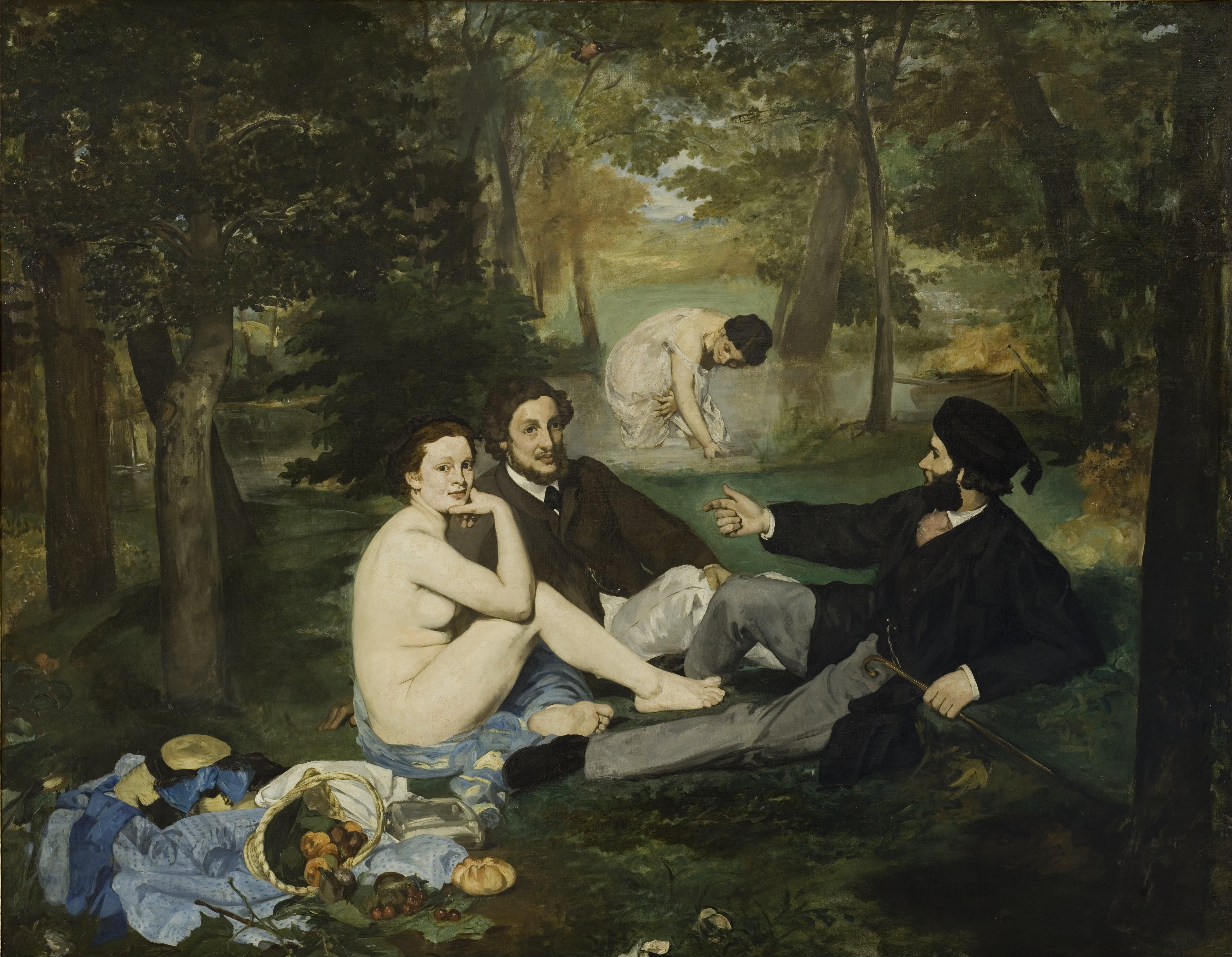 Edouard Manet, 1832-1883. Завтрак на траве. 1862-1863. 208 x 265.5 см. Париж, Музей Орсе