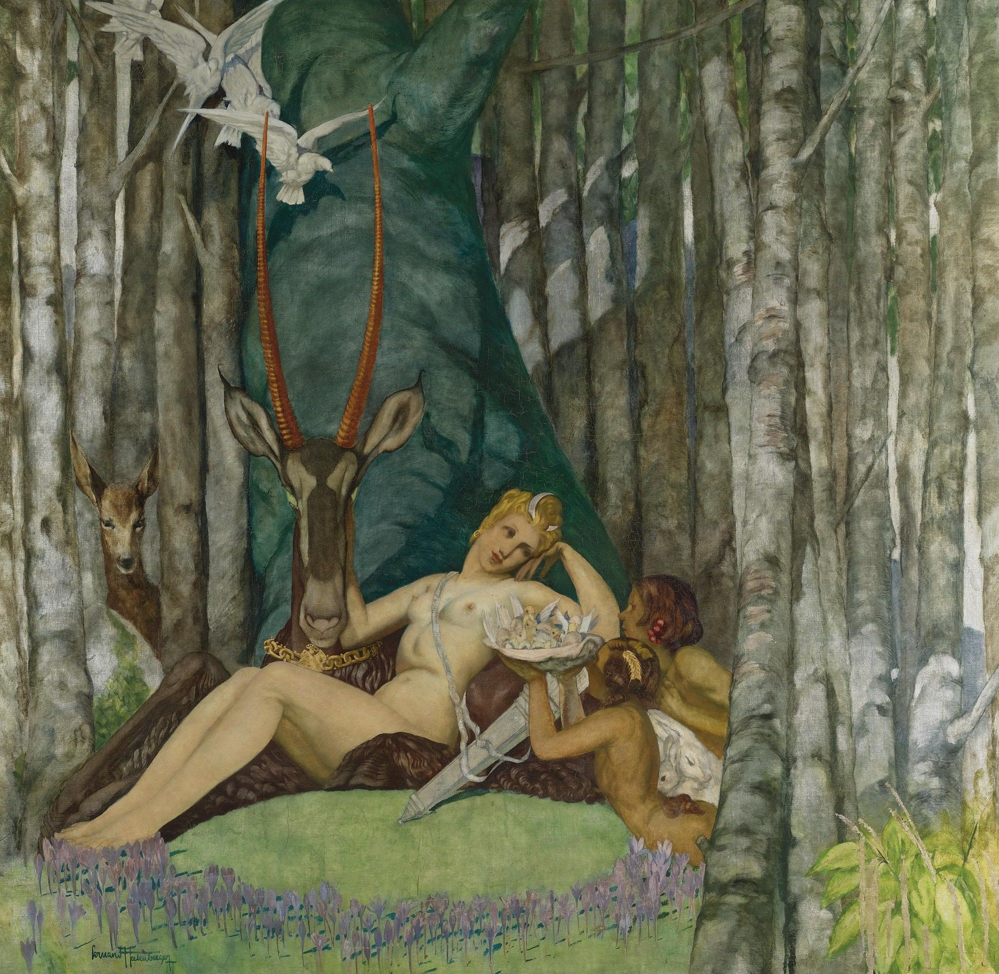 Fernand Hertenberger, 1882-1970. Диана. 193 х 187.9 см. Частная коллекция