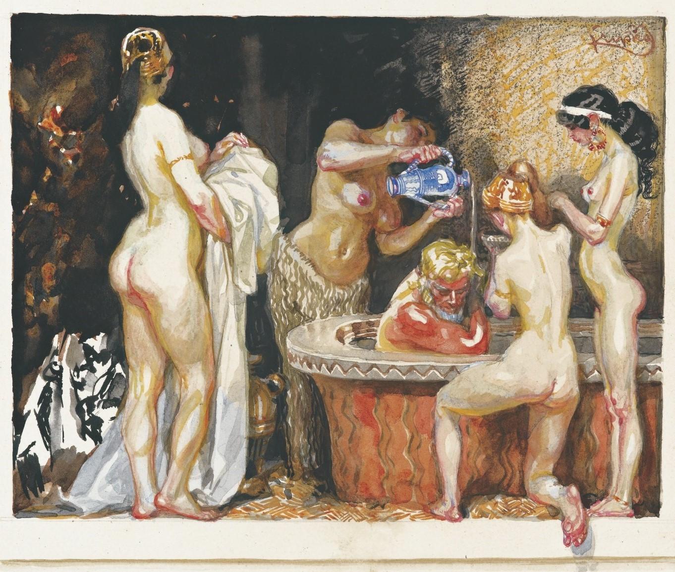 Frantisek Kupka, 1871-1957. Кассандра (16 х 19 см. Частная коллекция