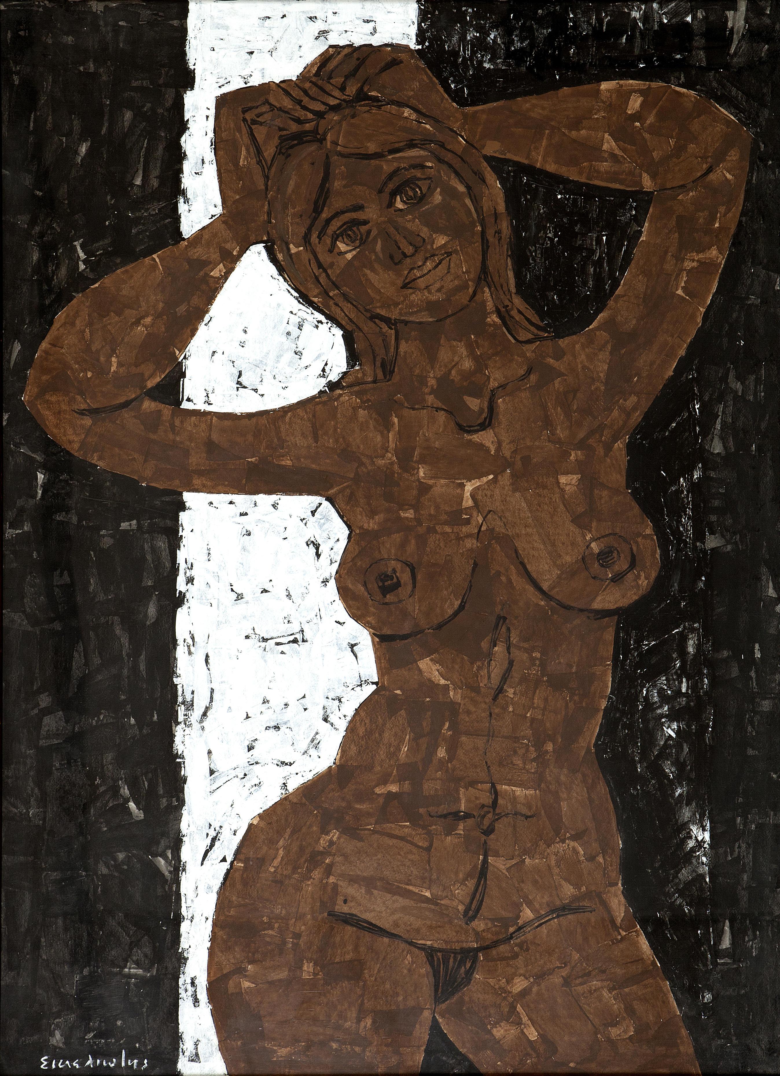 Georgios Sikeliotis, 1917-1984. Обнаженная. 100 x 69 см. Частная коллекция