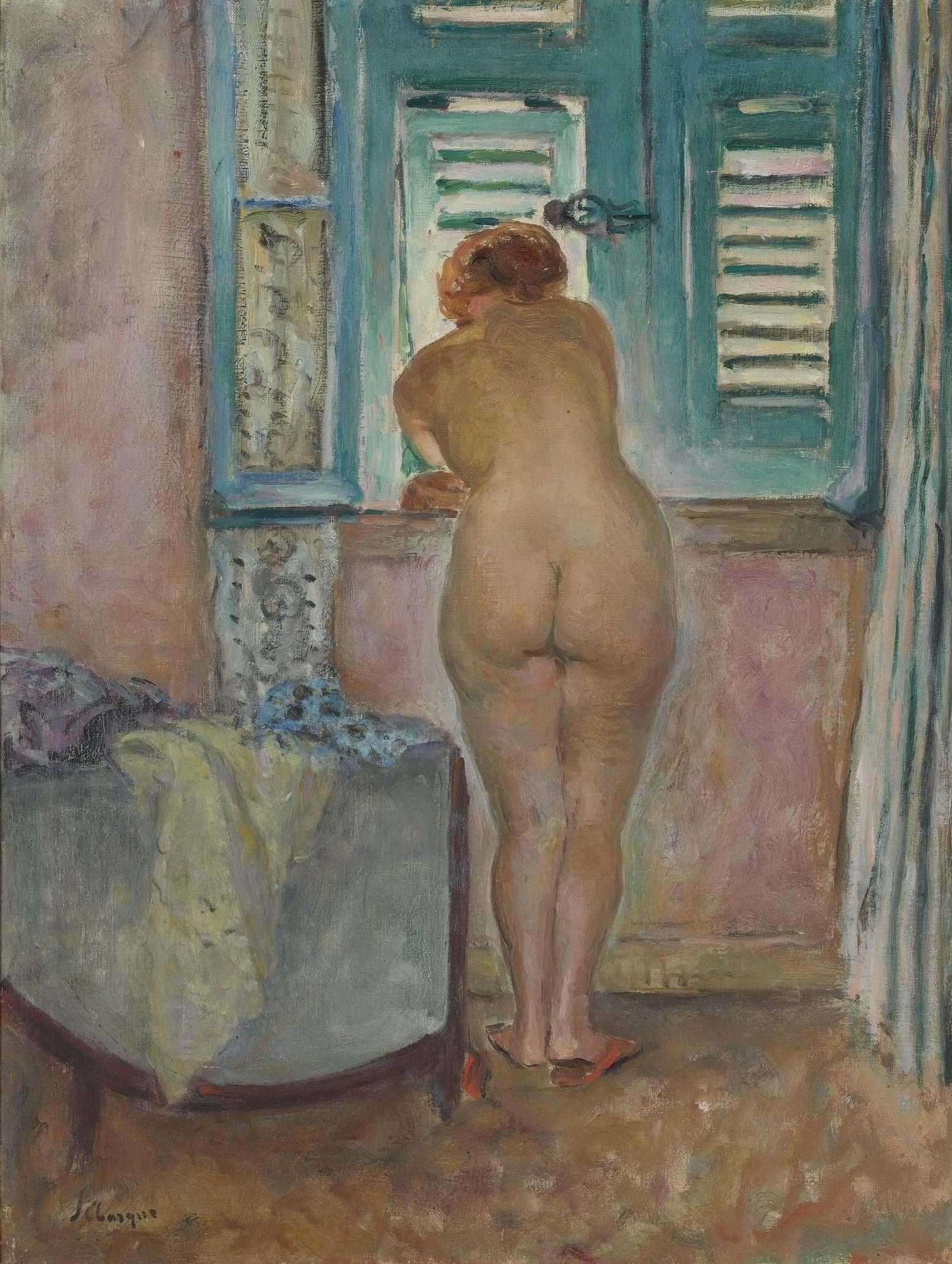 Henri Lebasque, 1865-1937. Обнаженная у окна. Частная коллекция