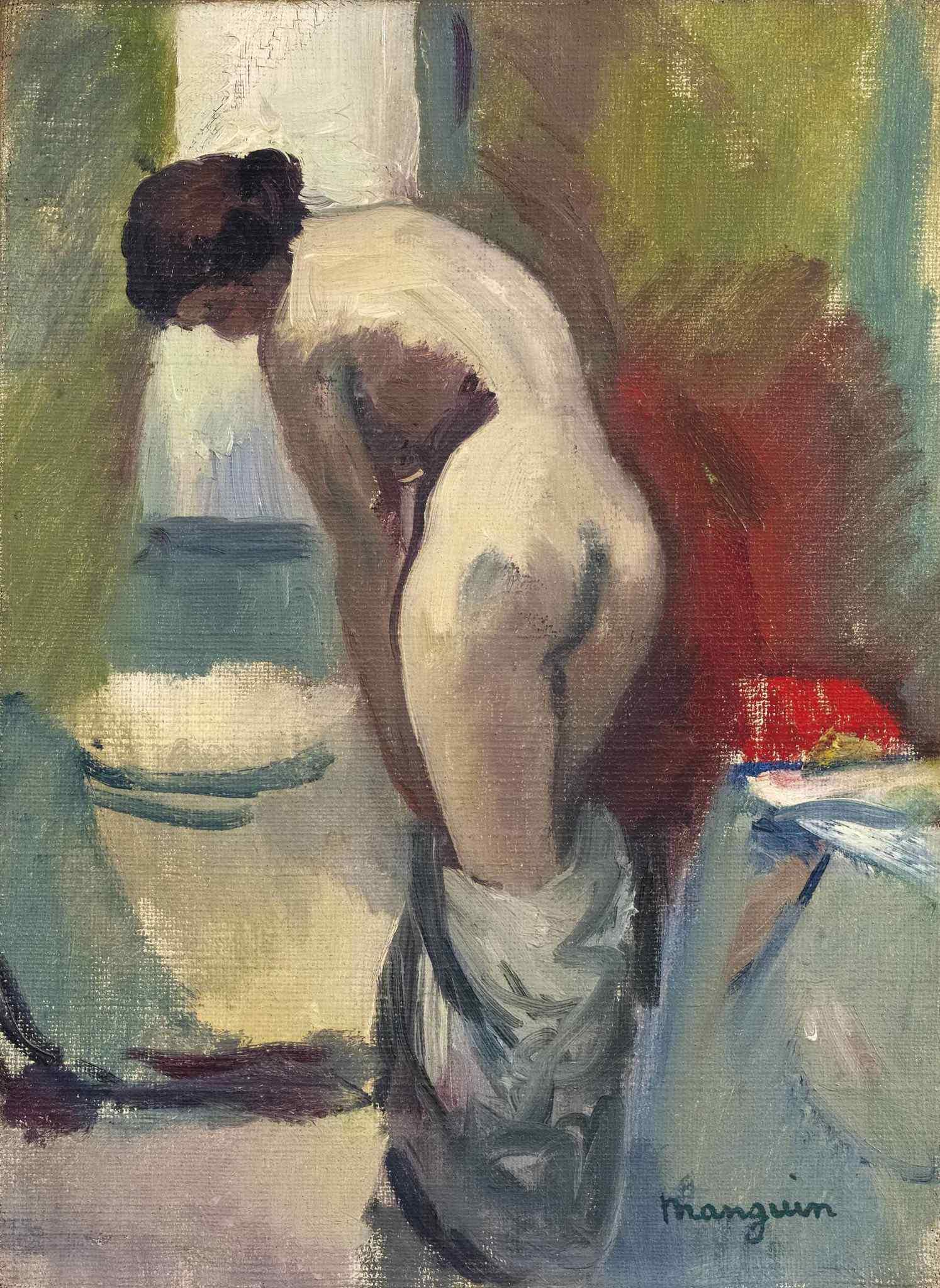 Henri Manguin, 1874-1949. Стоящая обнаженная. 33.2 x 24.5 см. Частная коллекция