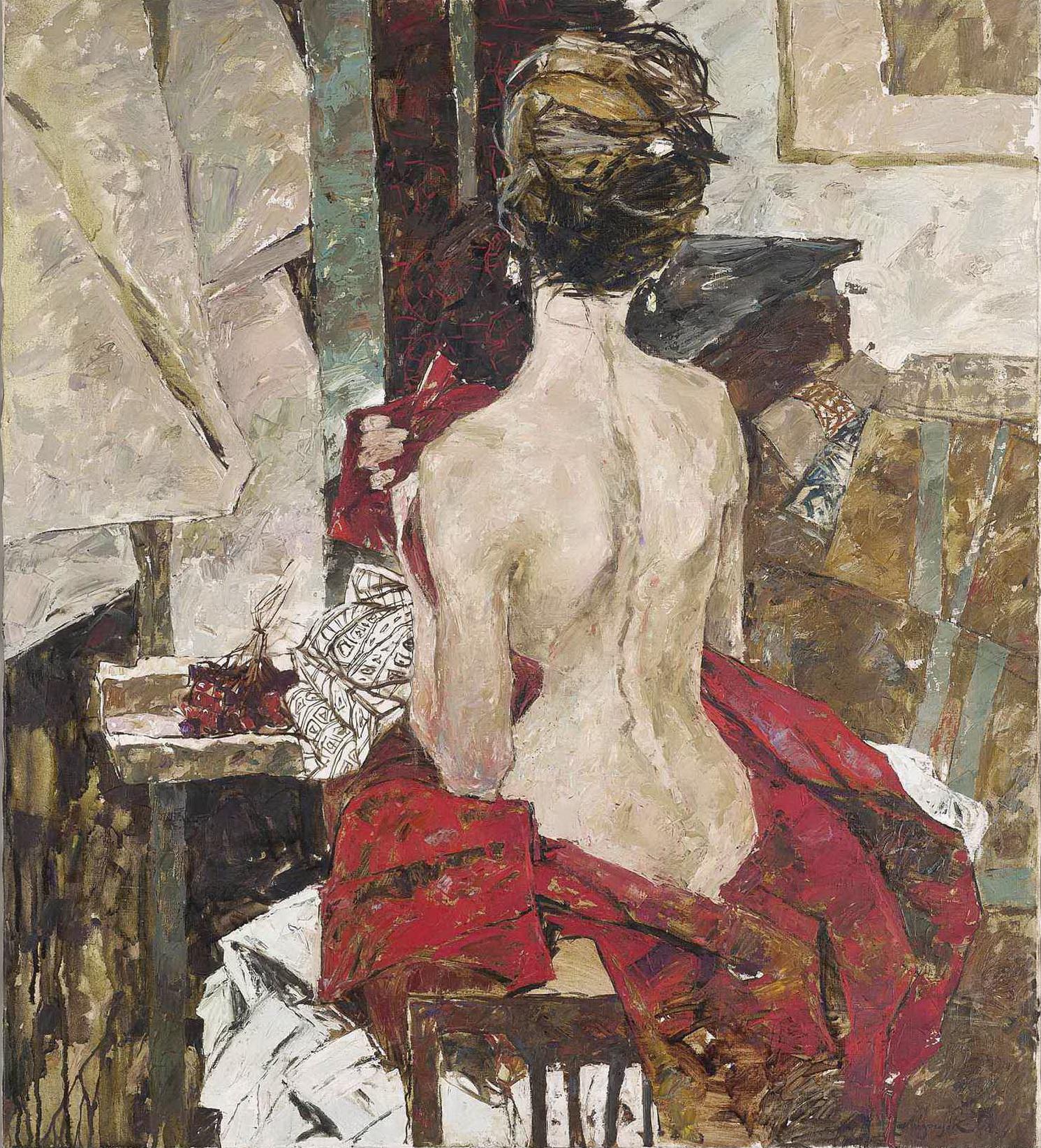 Konstantin Lizogub, род в 1985. В студии. 87 x 76.5 см. Частная коллекция