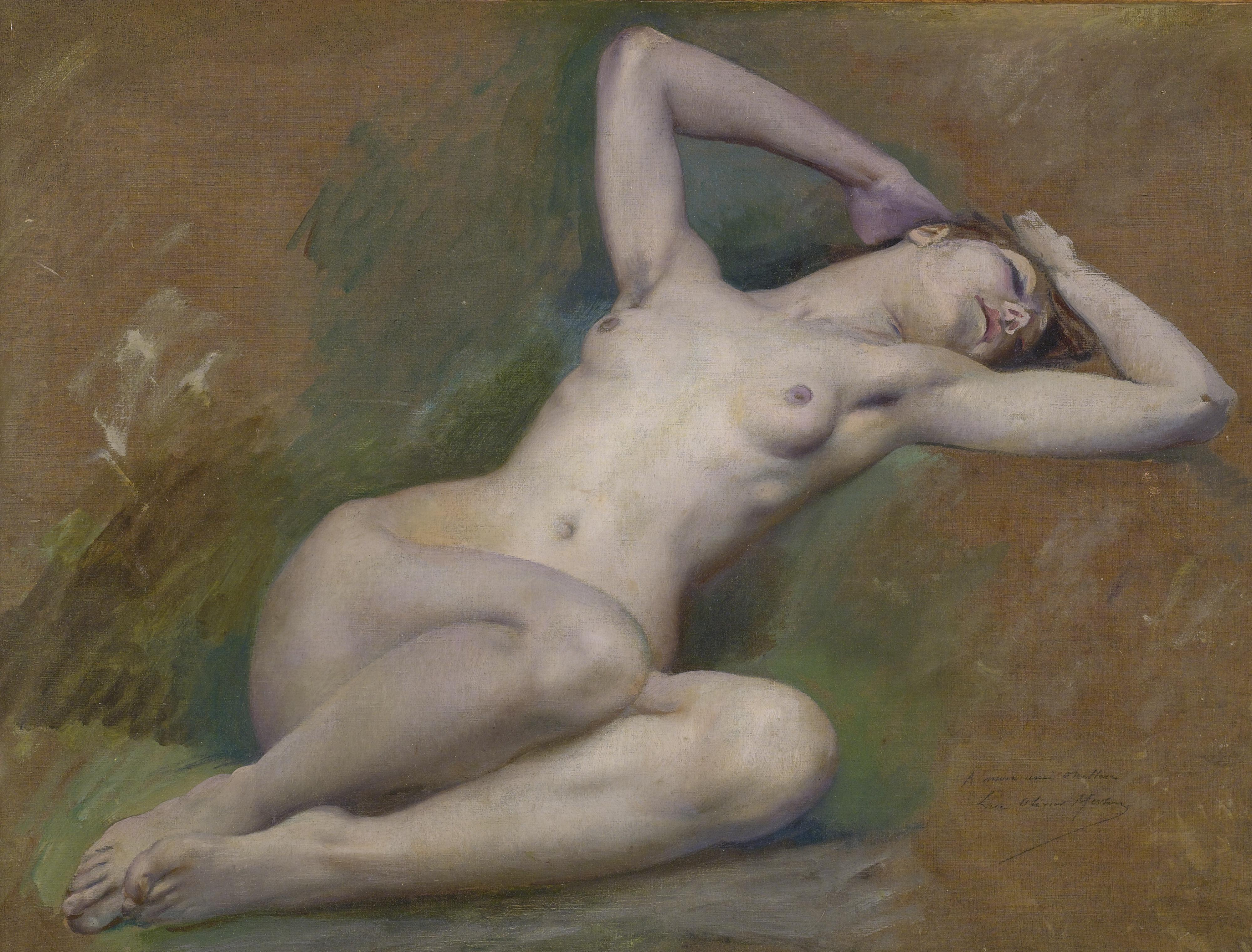 Luc Olivier Merson, 1846-1920. Этюд для фигуры Весны. 45.7 х 61 см. Частная коллекция