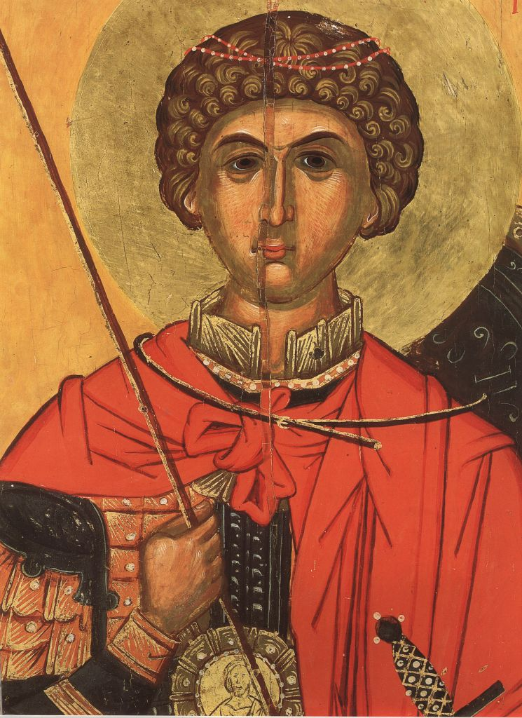 П. 4. Св. Георгий  (Фрагмент иконы 16в.)