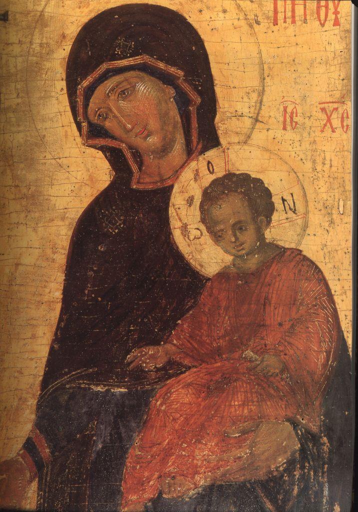 П.20а. Св. Иоанн Предтеча и Богоматерь1363г.(лики Богоматери