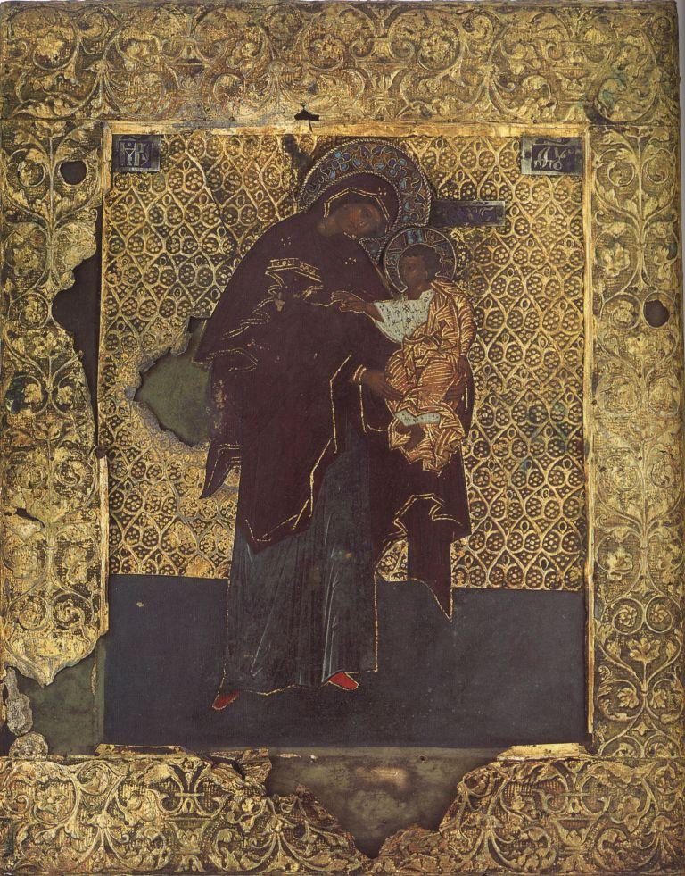 П.25.Богородица Панагия нач. 15в. (29,5 на 23,5)