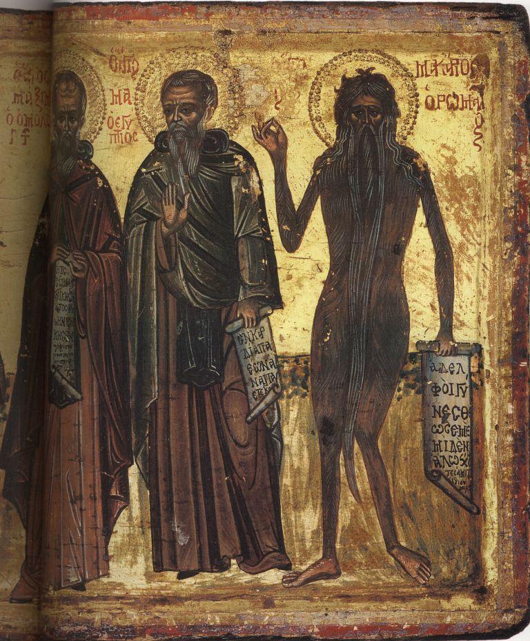 Па.110-2. Св. Зосима, Мария Египетская, Максим Исповедник, М