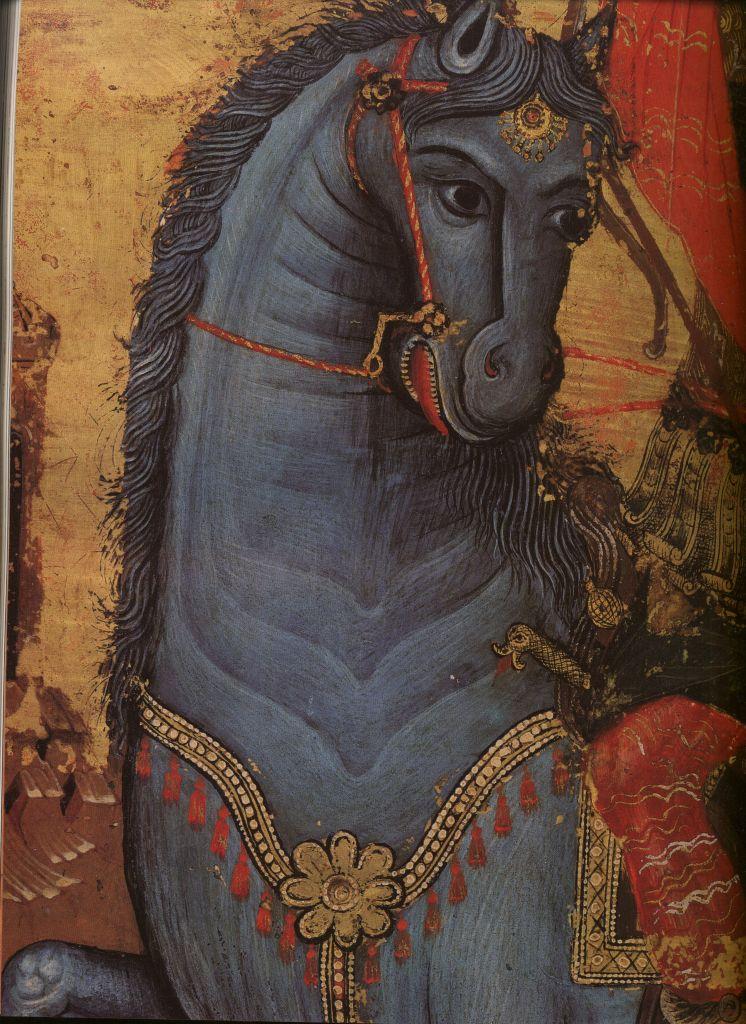 Па.123б. Св. Феодор -конь(53,5 на 38)  нач 18в