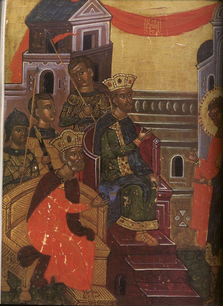 Па.124-3. клеймо Св. Георгий Победоносец в житии(129 на 96)