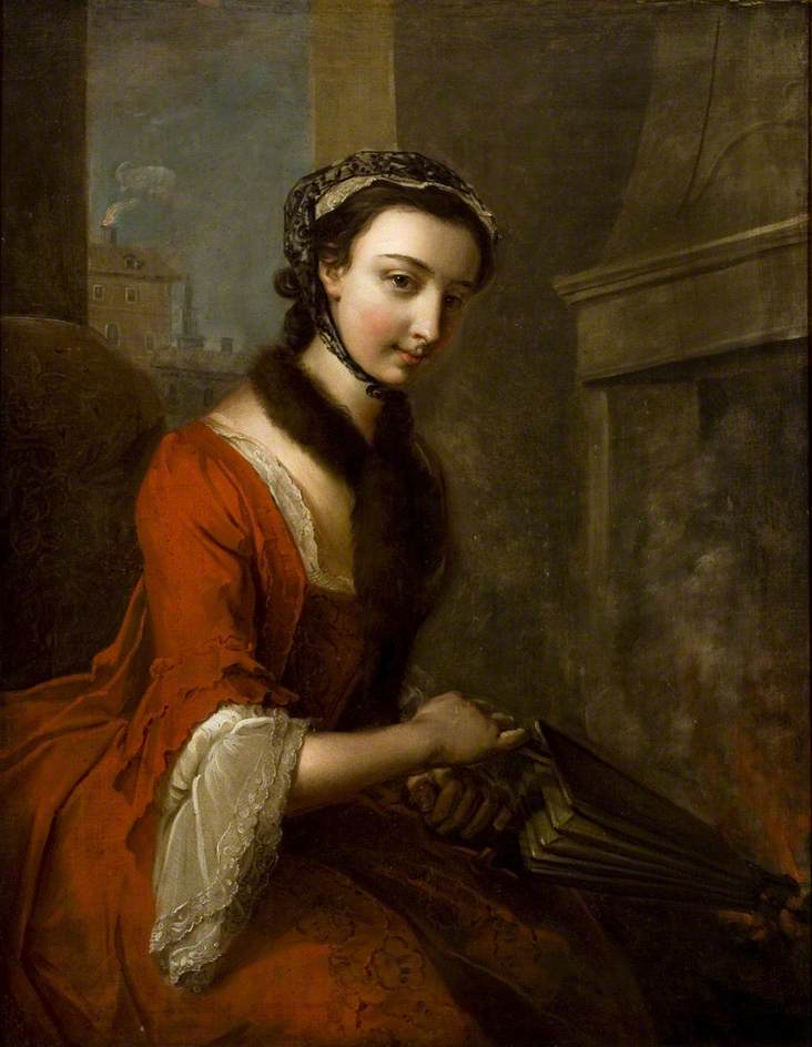 Young Woman with Bellows (Fire)