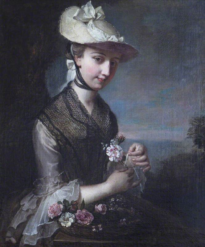 Young Woman with Roses (Spring)