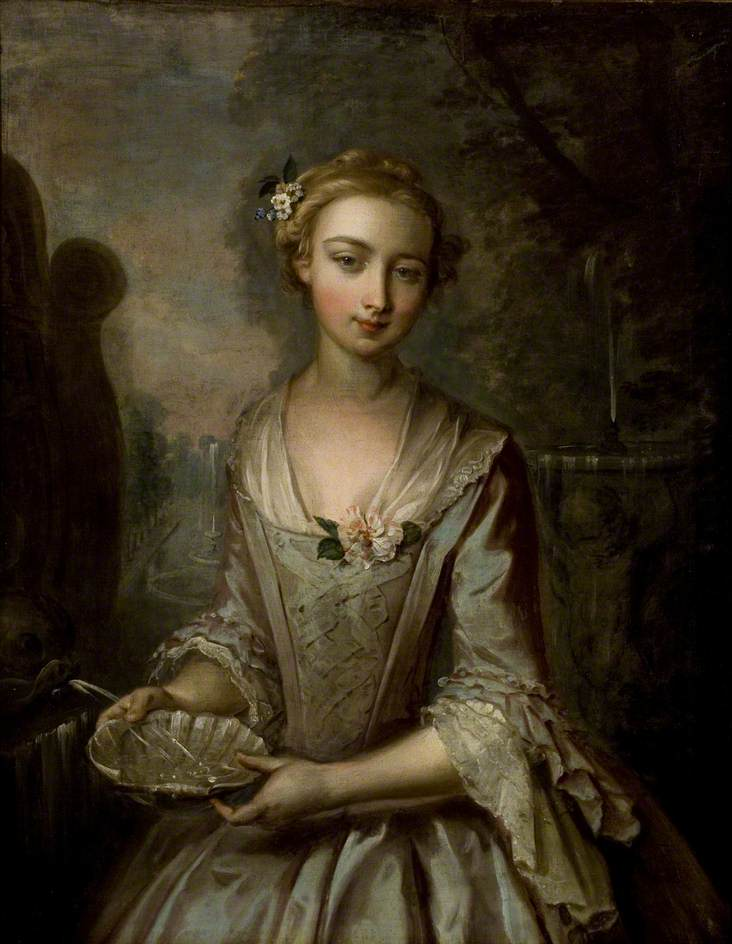 Young Woman with Scallop Shell (Water)