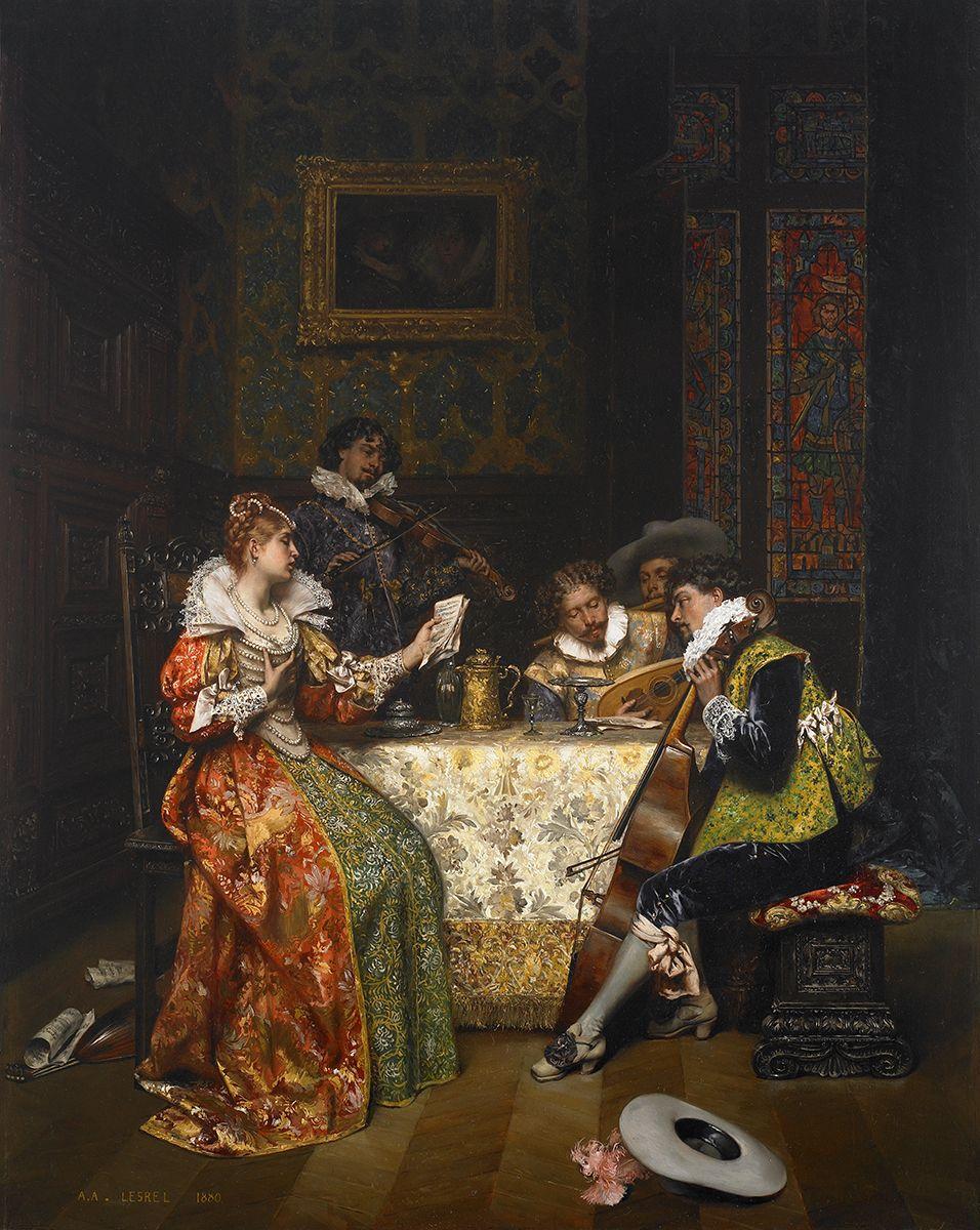 Adolphe-Alexandre-Lesrel_Les-musiciens