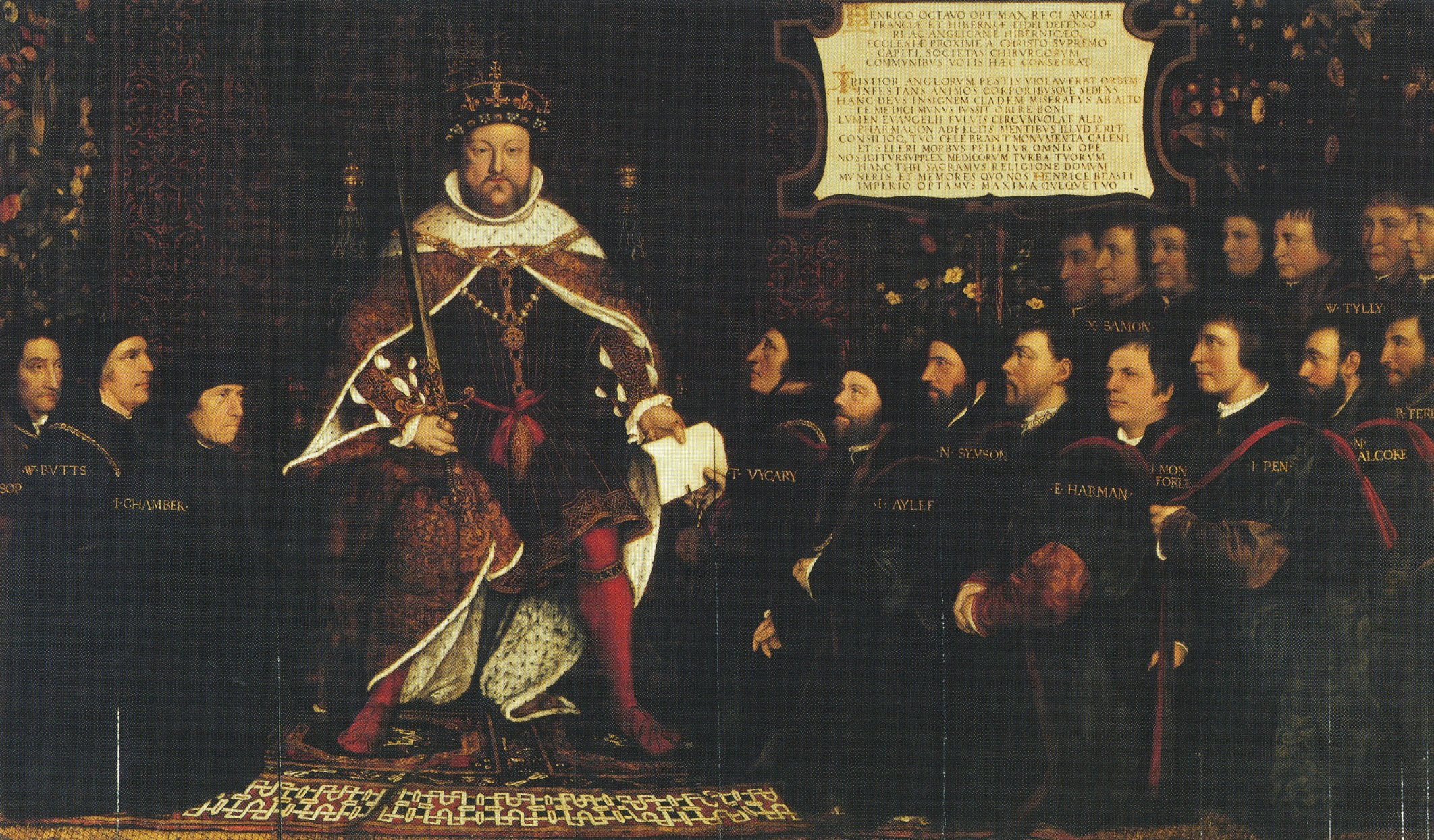 Henry VIII and the Barber Surgeons. ca1543