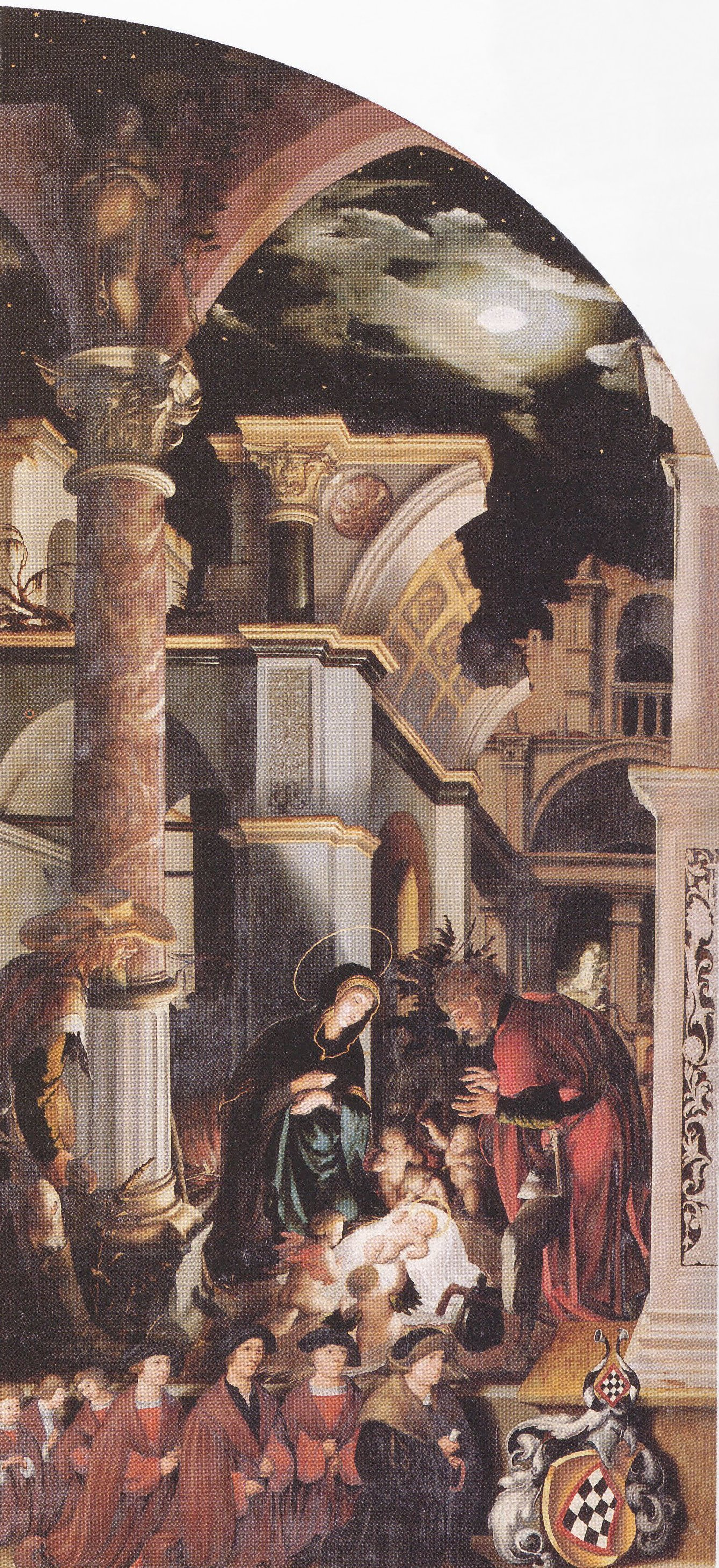 Oberried Altarpiece, right interior wing The Birth of Christ. c.1520