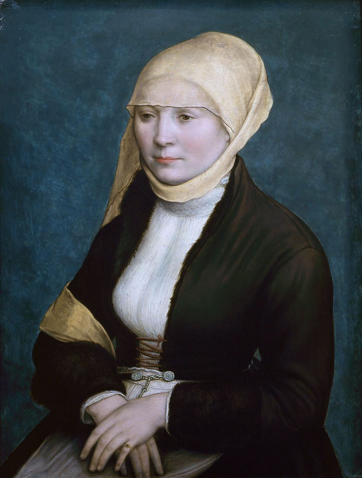 Portrait of a woman from southern Germany. Workshop of Hans Holbein the Younger. c.1520-25