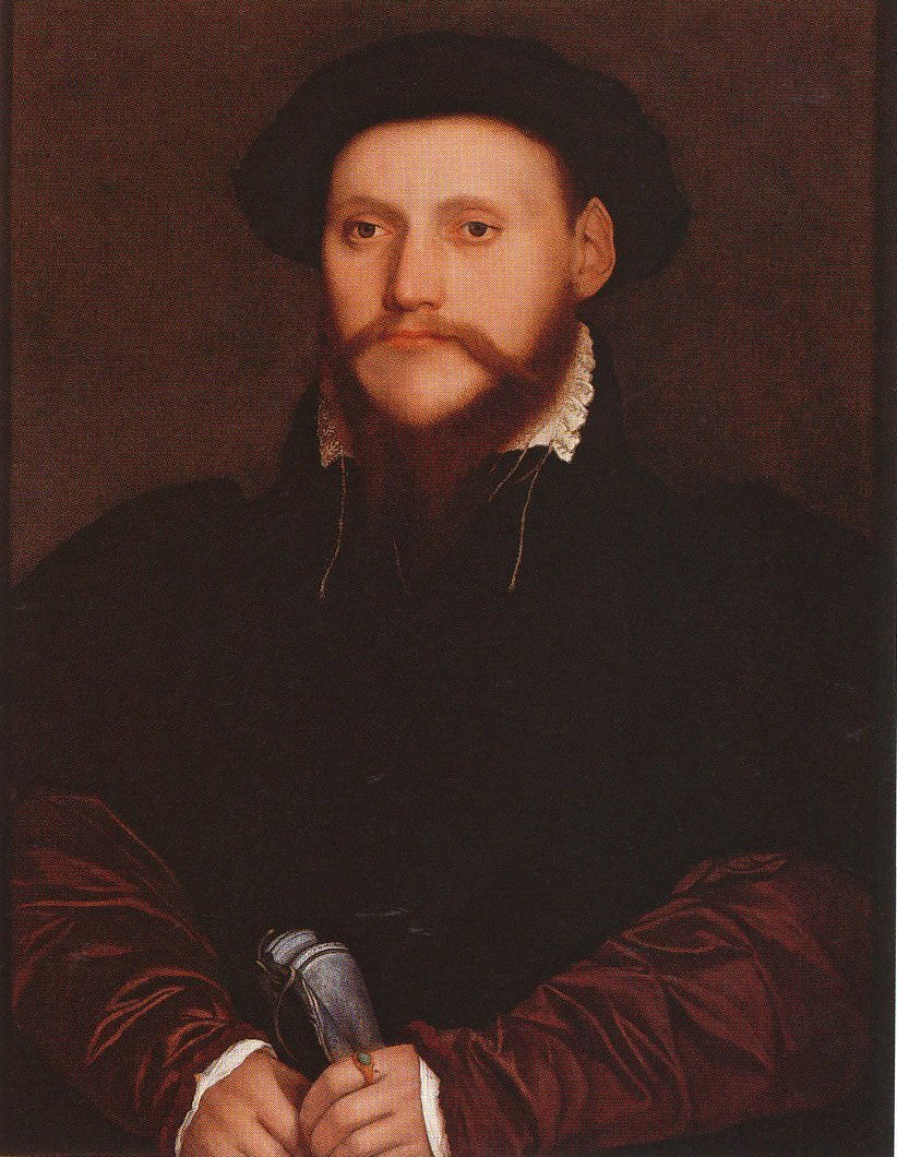 Portrait of an Unknown Man Holding Gloves. c.1540-43