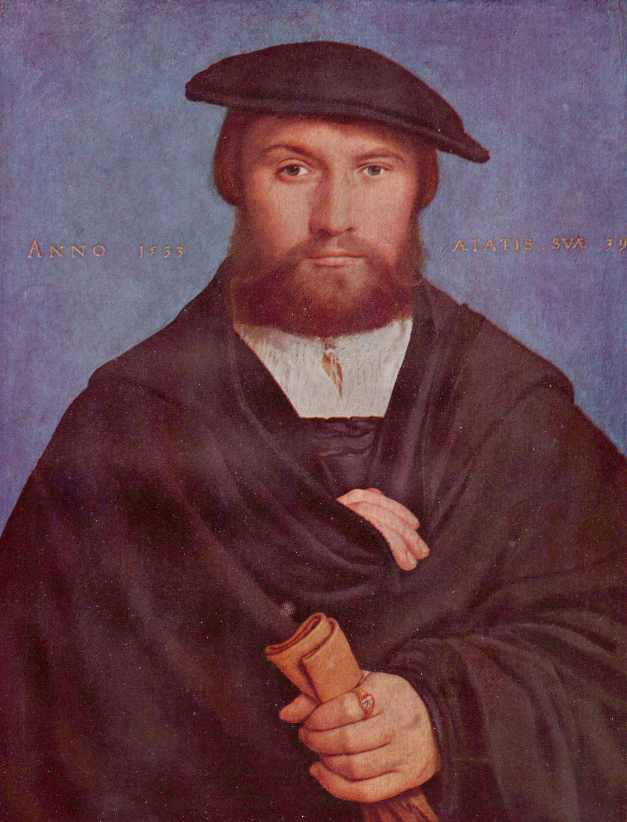 Portrait of businessman Wedigh from Cologne. 1533