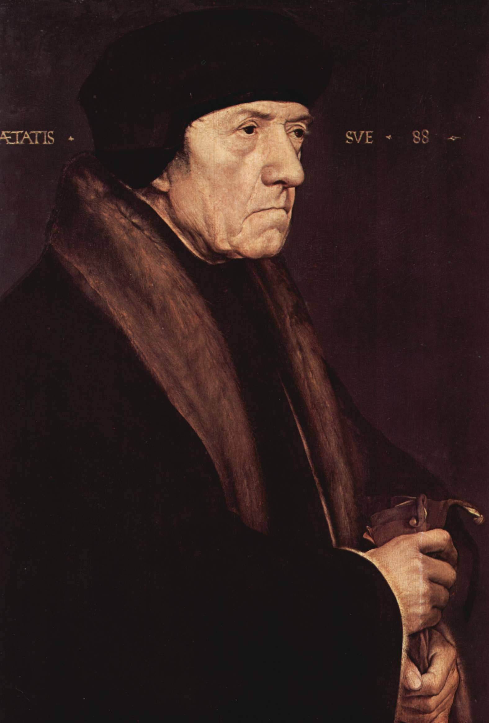 Portrait of Dr. John Chambers, personal physician to King Henry VIII. 1541-43