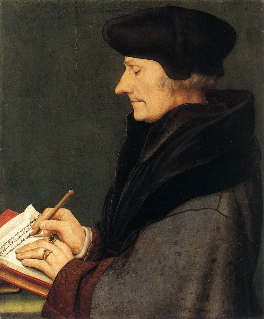 Portrait of Erasmus of Rotterdam Writing. 1523