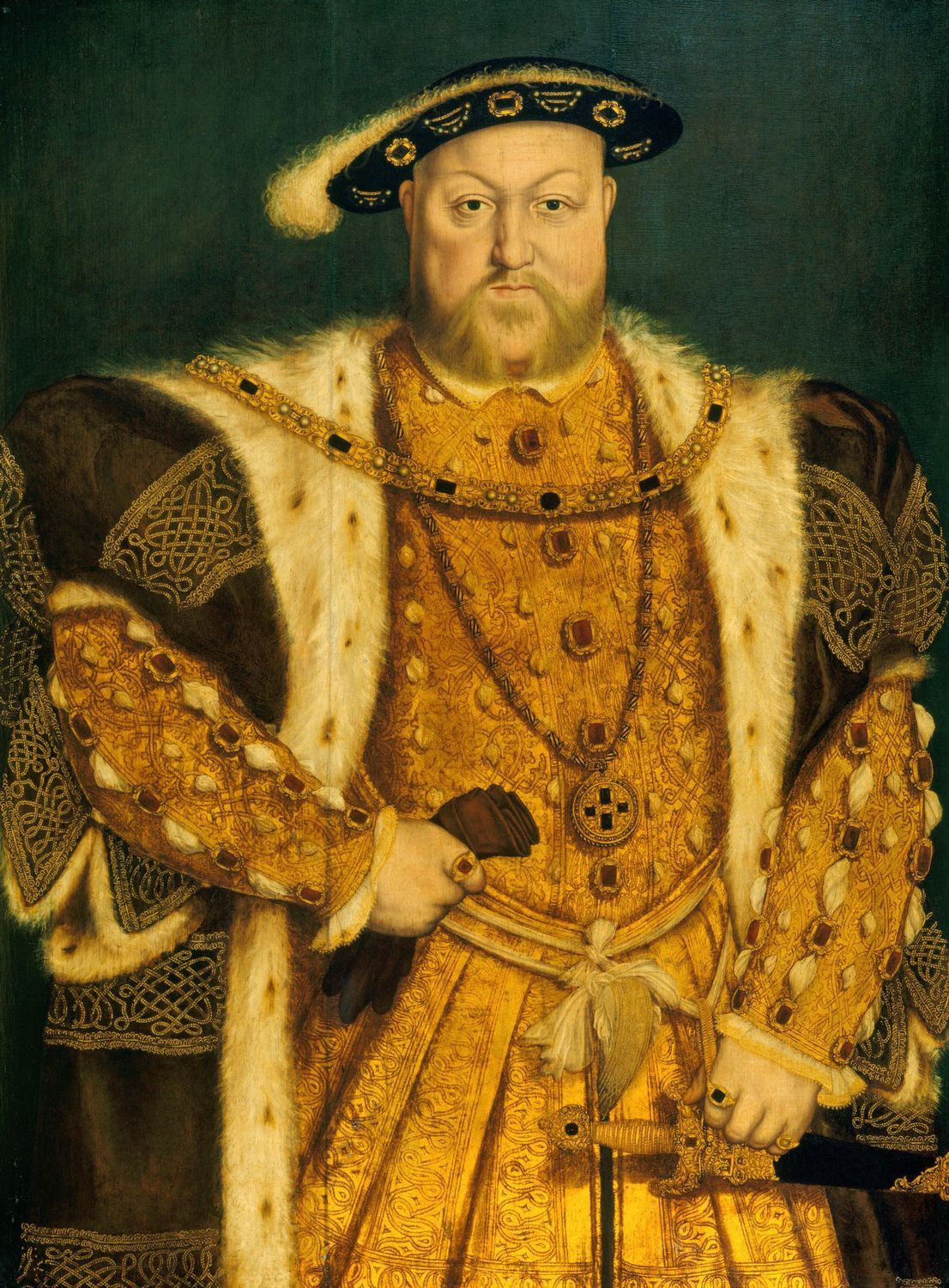 Portrait of Henry VIII (1491-1547). c.1538-1547 (Royal Collection of the United Kingdom)