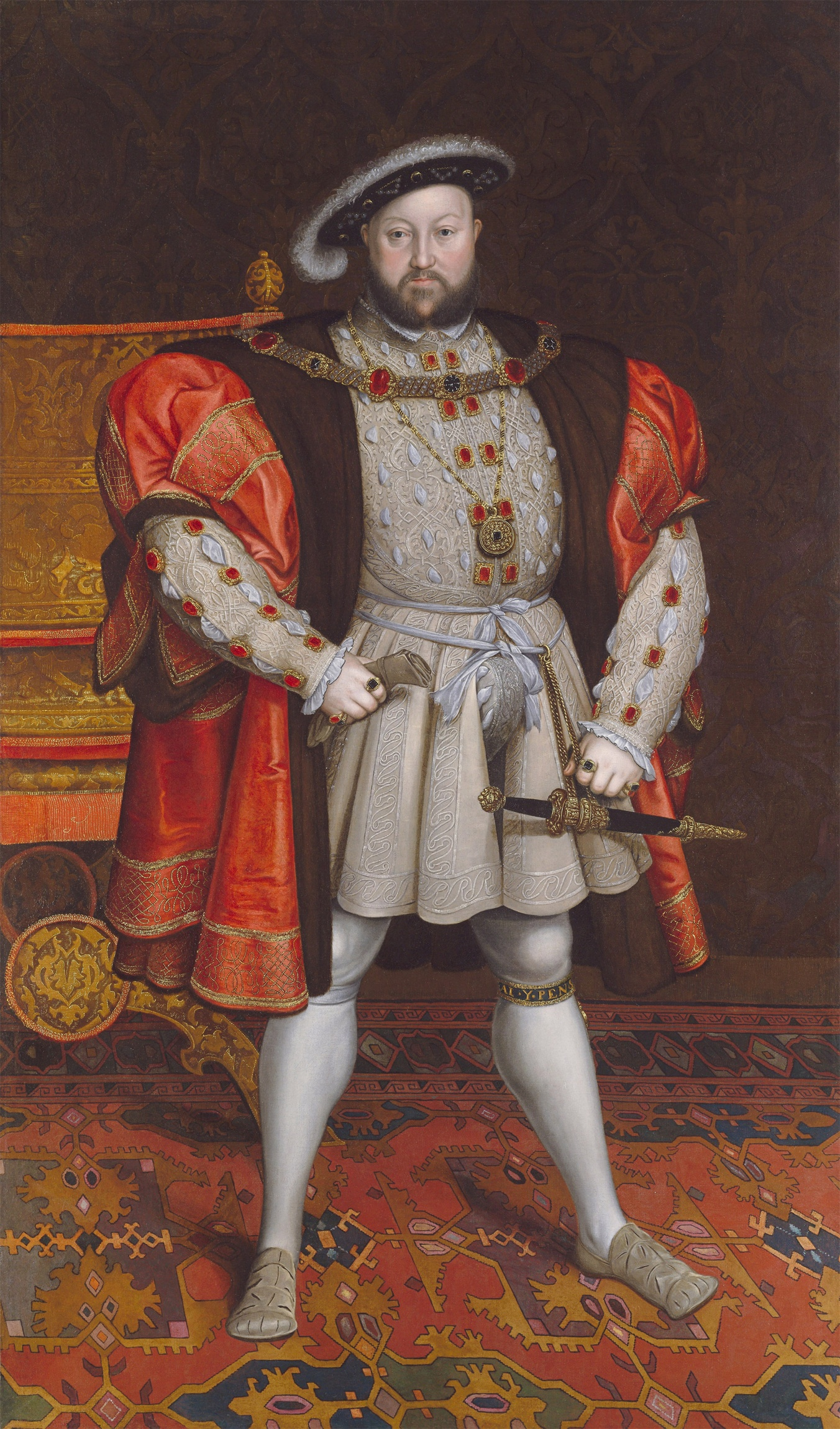 Portrait of Henry VIII of England after Hans Holbein the Younger, originally displayed at Ditchley, Oxfordshire. c.1600